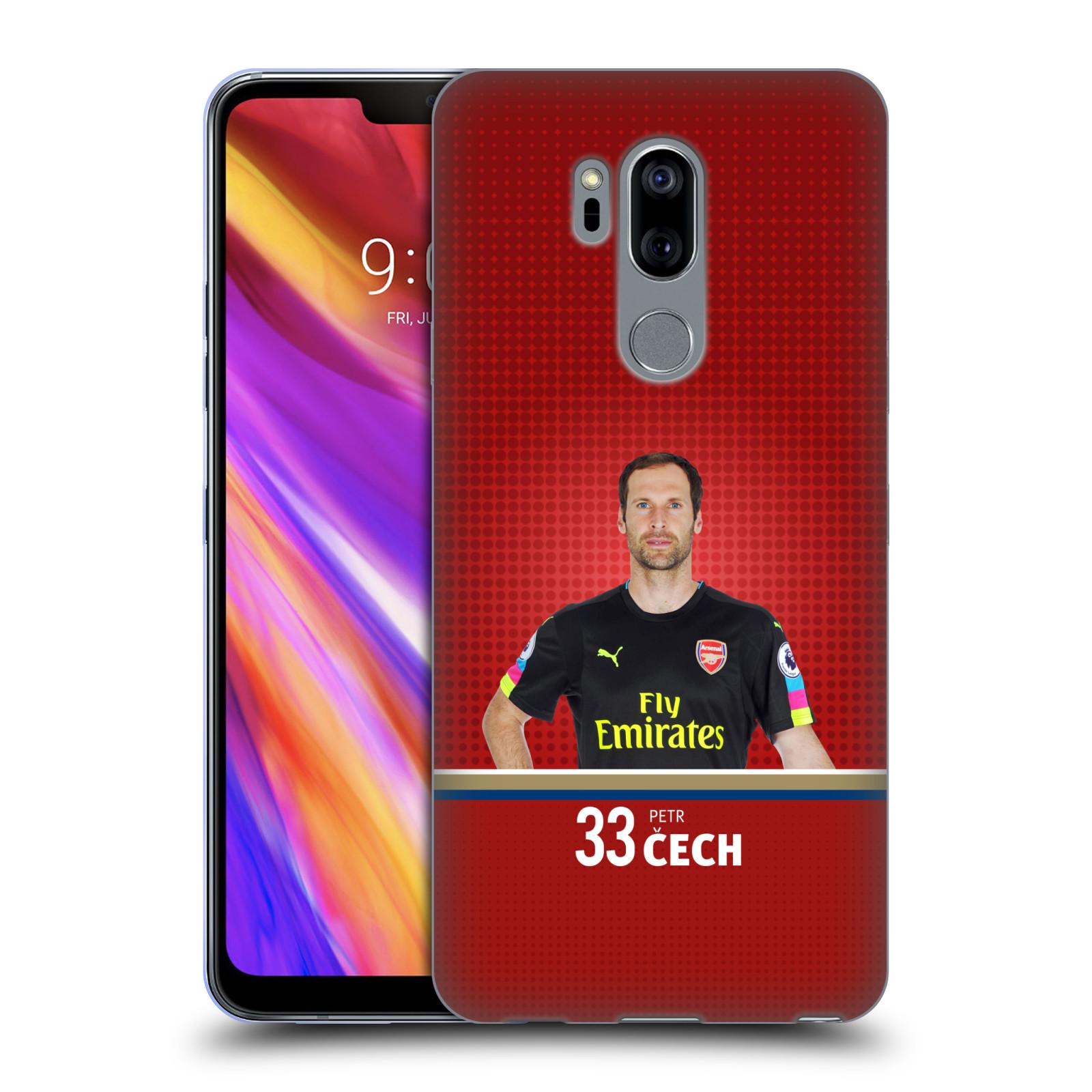 Silikonové pouzdro na mobil LG G7 ThinQ - Head Case - Arsenal FC - Petr Čech