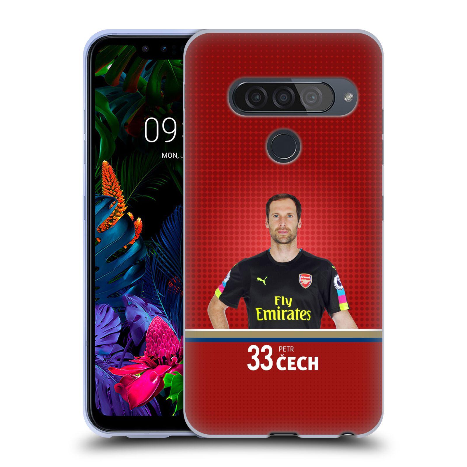 Silikonové pouzdro na mobil LG G8s ThinQ - Head Case - Arsenal FC - Petr Čech