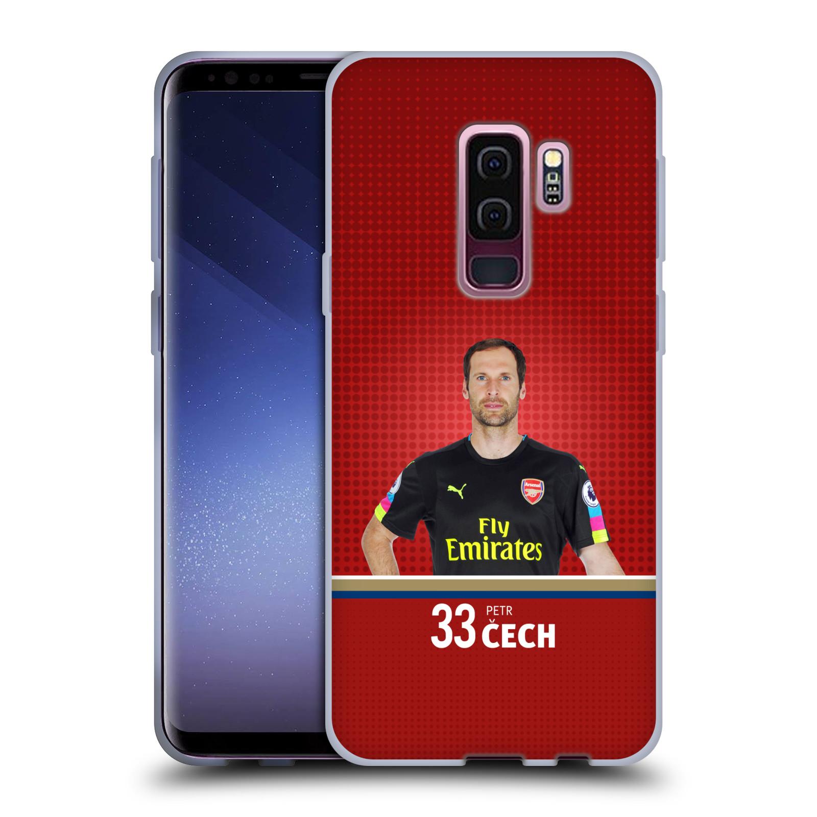 Silikonové pouzdro na mobil Samsung Galaxy S9 Plus - Head Case - Arsenal FC - Petr Čech