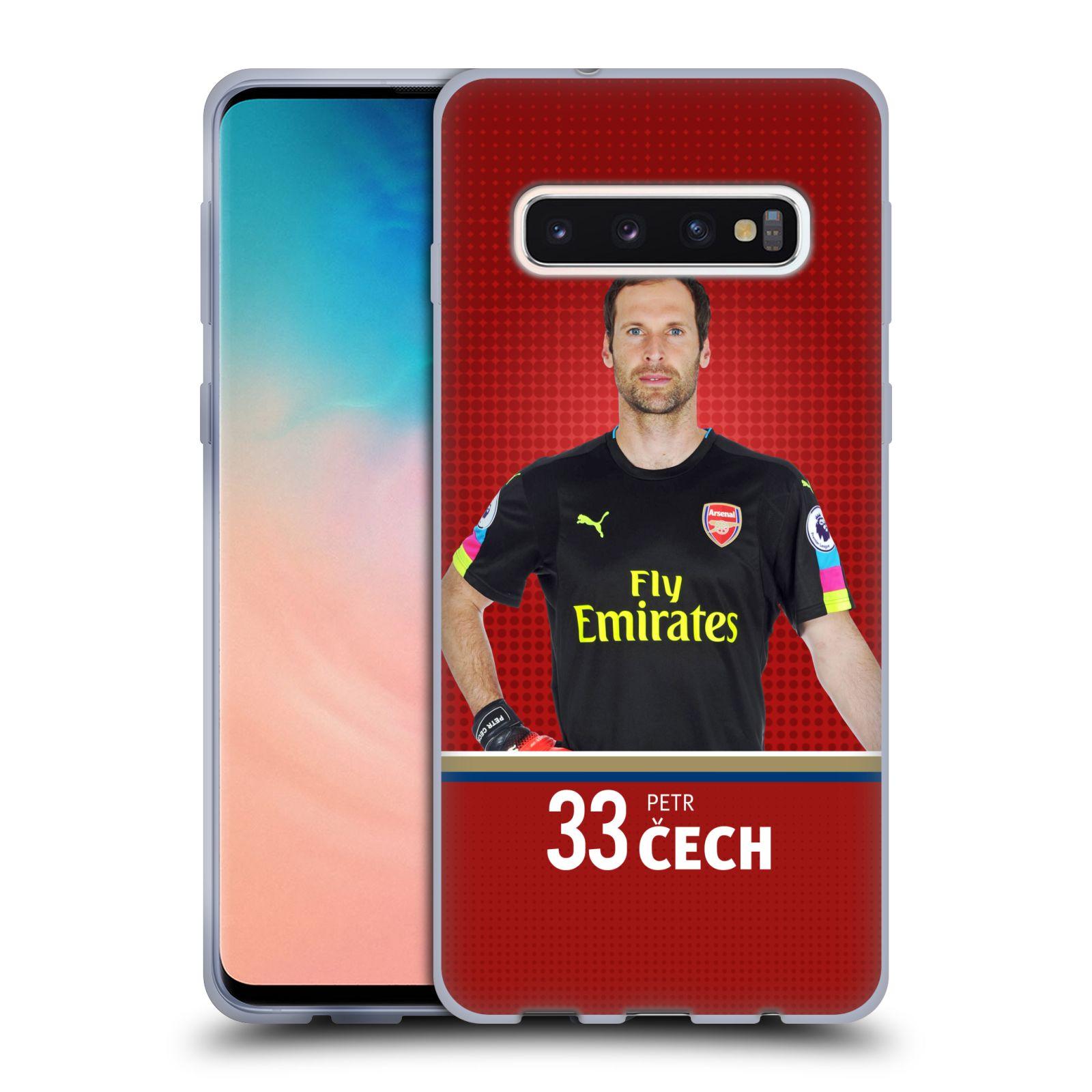 Silikonové pouzdro na mobil Samsung Galaxy S10 - Head Case - Arsenal FC - Petr Čech