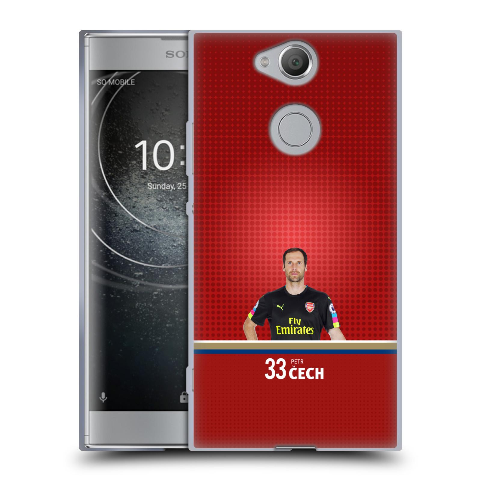 Silikonové pouzdro na mobil Sony Xperia XA2 - Head Case - Arsenal FC - Petr Čech