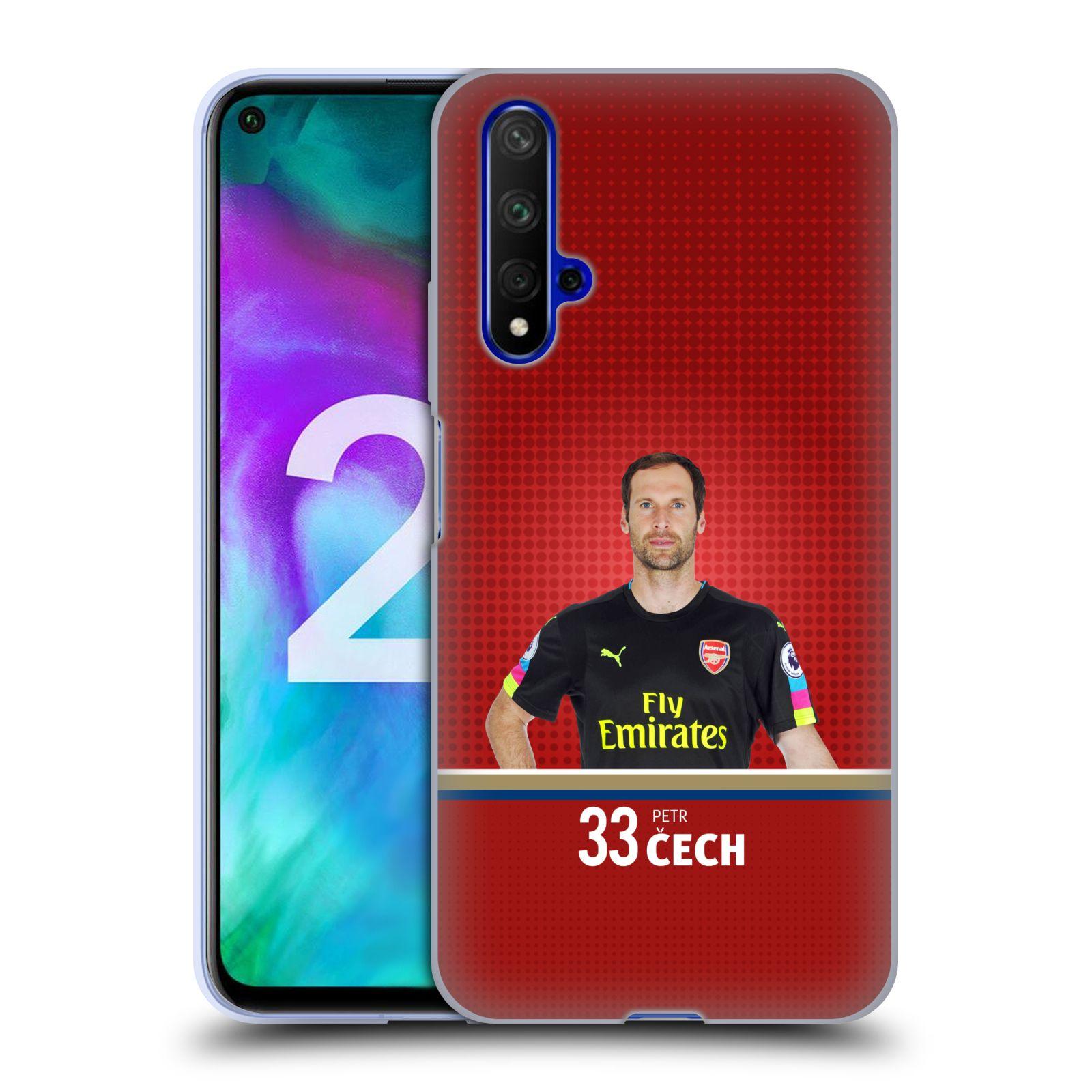 Silikonové pouzdro na mobil Honor 20 - Head Case - Arsenal FC - Petr Čech