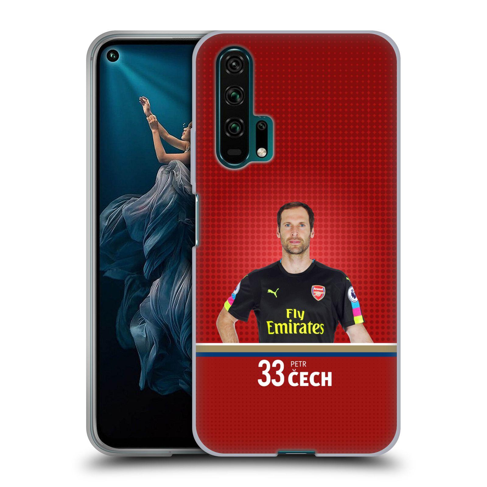 Silikonové pouzdro na mobil Honor 20 Pro - Head Case - Arsenal FC - Petr Čech