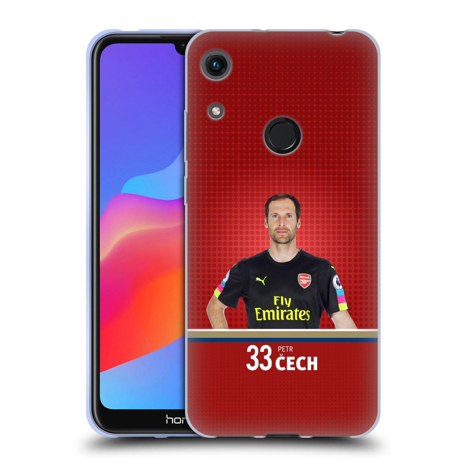 Silikonové pouzdro na mobil Honor 8A - Head Case - Arsenal FC - Petr Čech