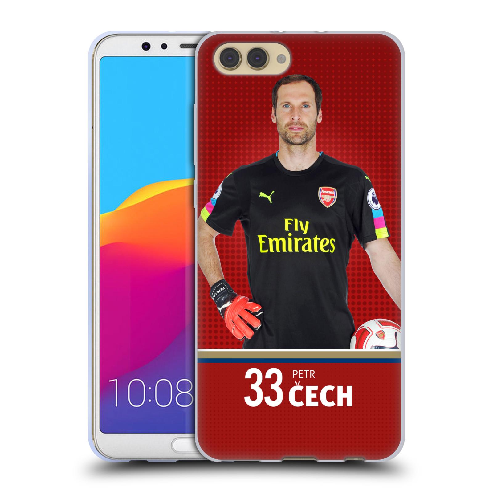 Silikonové pouzdro na mobil Honor View 10 - Head Case - Arsenal FC - Petr Čech