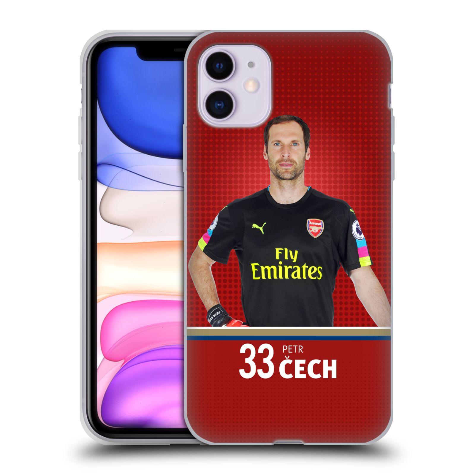 Silikonové pouzdro na mobil Apple iPhone 11 - Head Case - Arsenal FC - Petr Čech