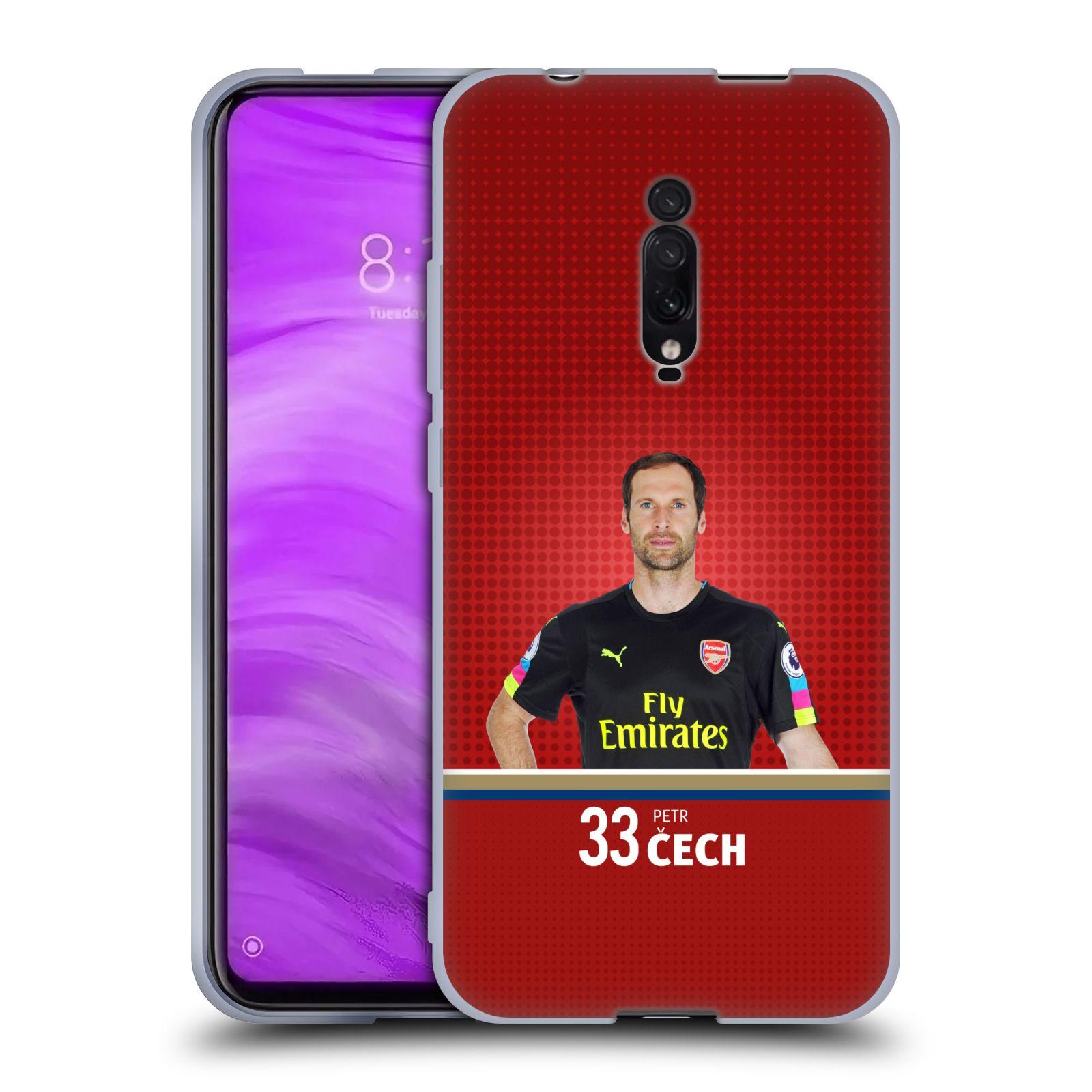 Silikonové pouzdro na mobil Xiaomi Mi 9T - Head Case - Arsenal FC - Petr Čech