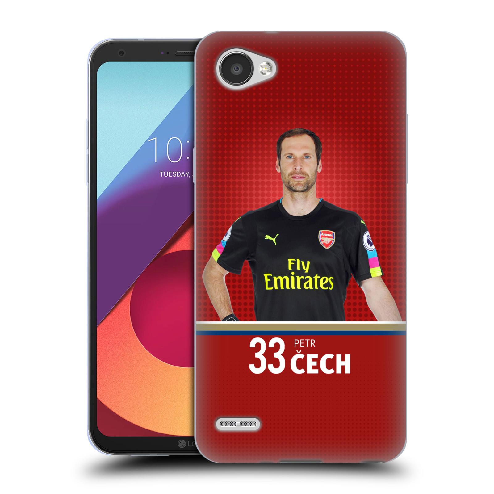 Silikonové pouzdro na mobil LG Q6 - Head Case - Arsenal FC - Petr Čech