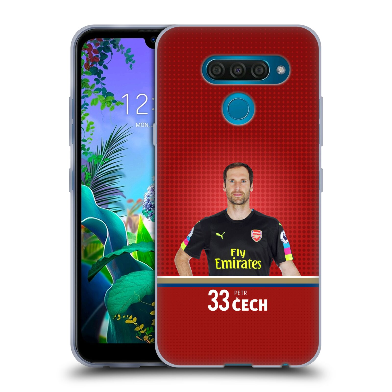 Silikonové pouzdro na mobil LG Q60 - Head Case - Arsenal FC - Petr Čech