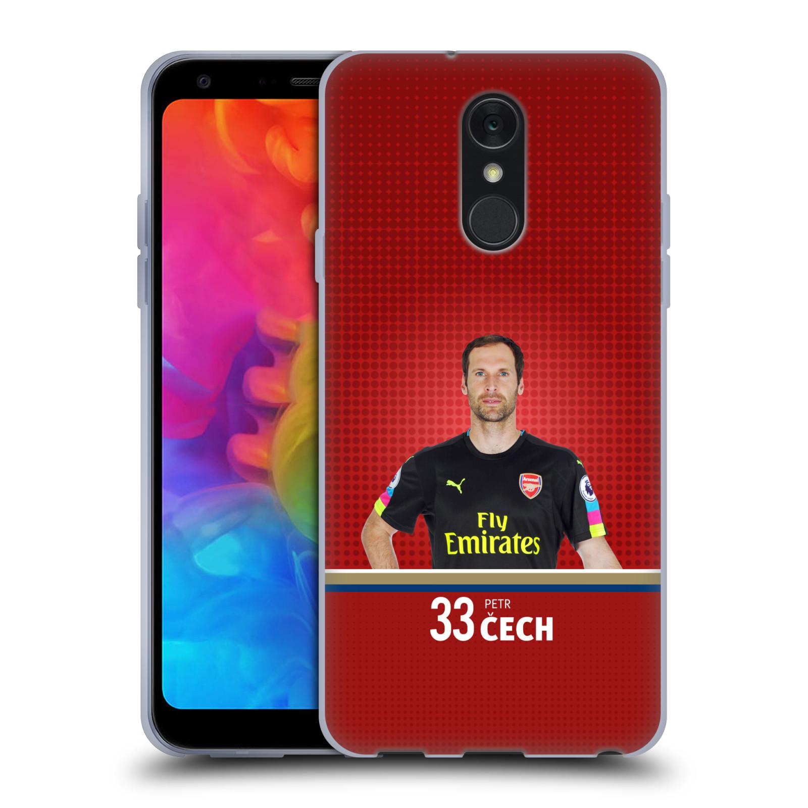 Silikonové pouzdro na mobil LG Q7 - Head Case - Arsenal FC - Petr Čech
