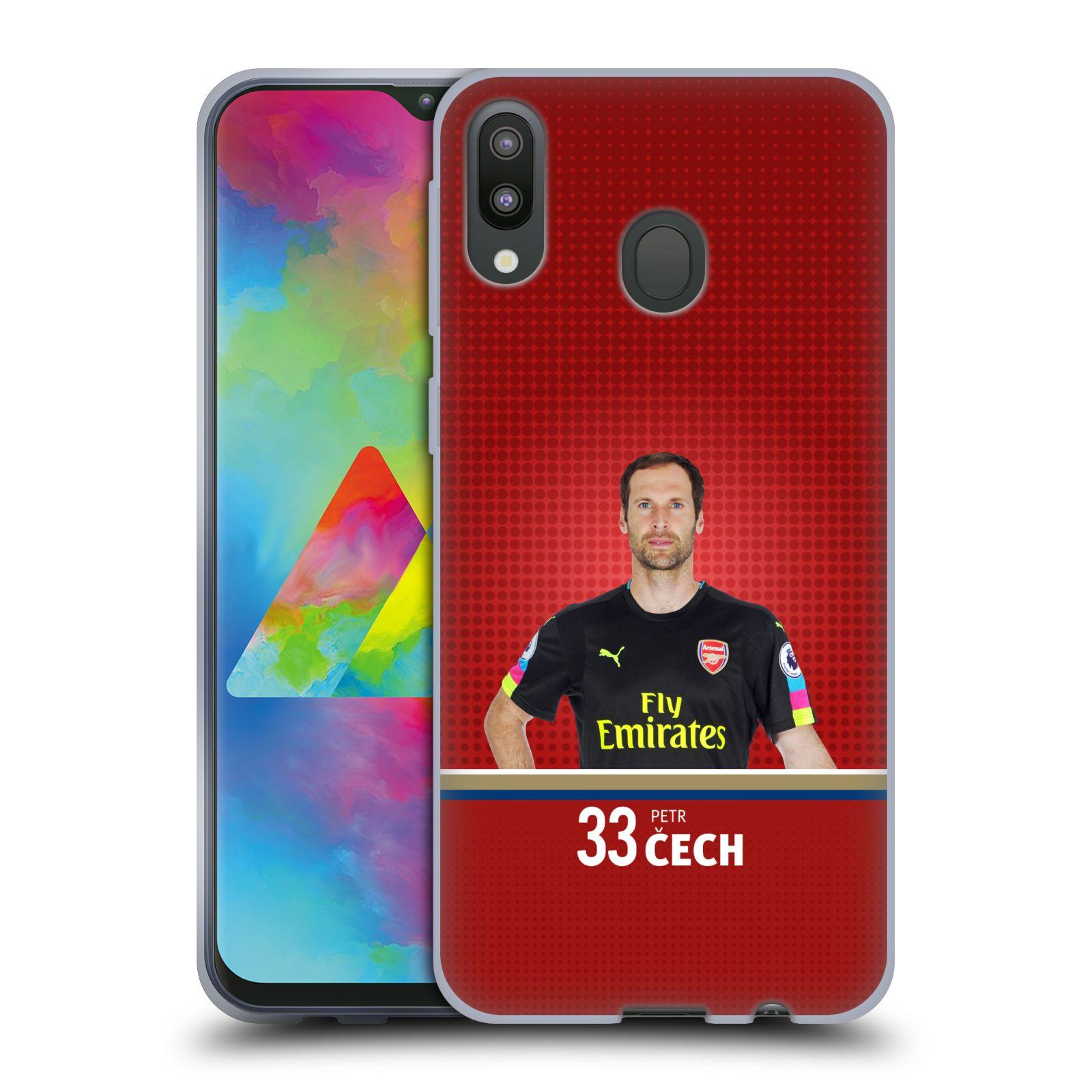 Silikonové pouzdro na mobil Samsung Galaxy M20 - Head Case - Arsenal FC - Petr Čech