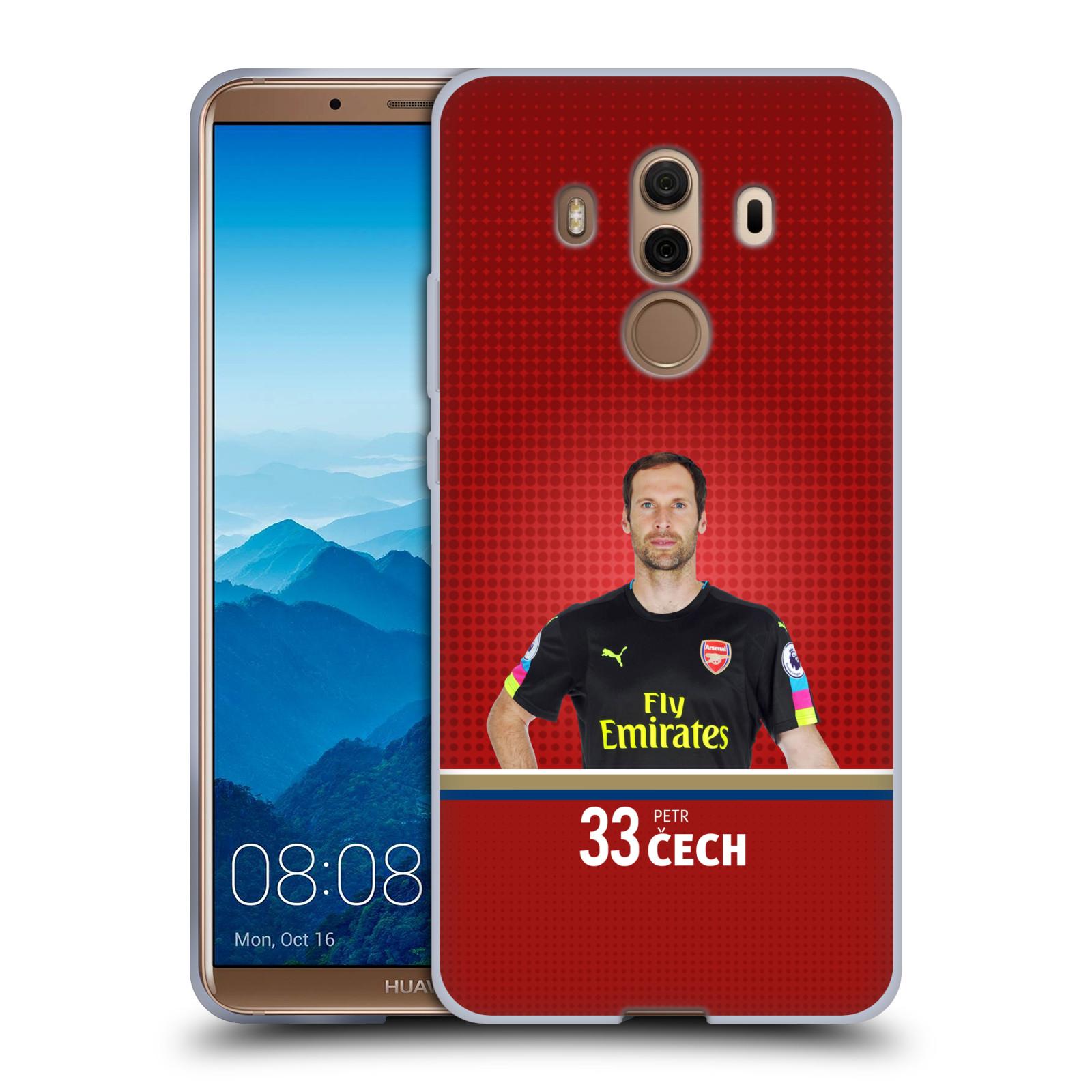 Silikonové pouzdro na mobil Huawei Mate 10 Pro - Head Case - Arsenal FC - Petr Čech