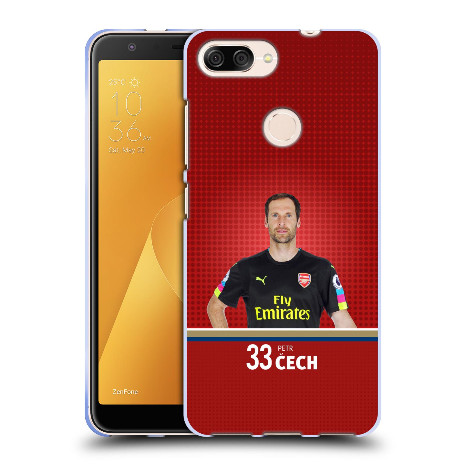 Silikonové pouzdro na mobil Asus ZenFone Max Plus (M1) - Head Case - Arsenal FC - Petr Čech