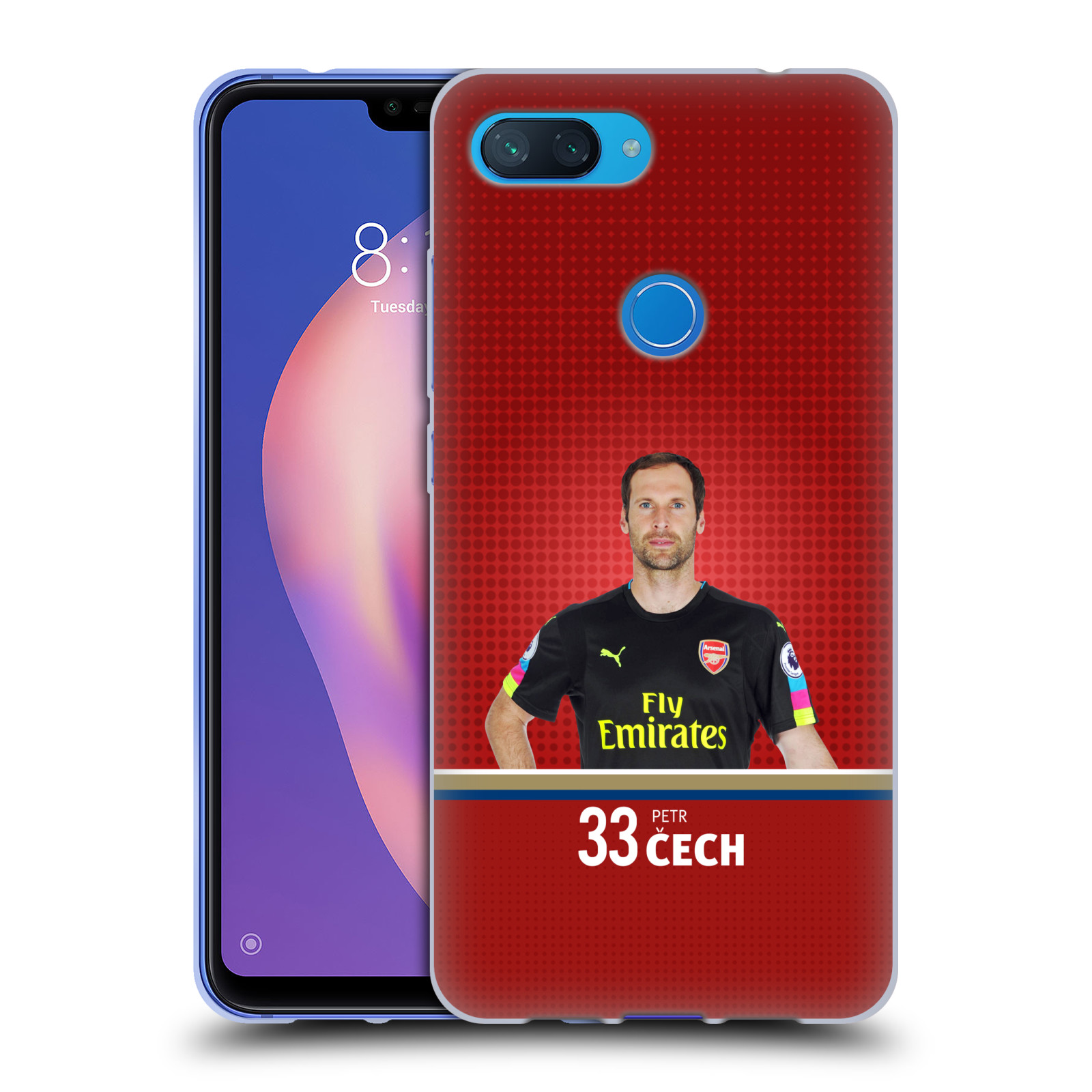 Silikonové pouzdro na mobil Xiaomi Mi 8 Lite - Head Case - Arsenal FC - Petr Čech