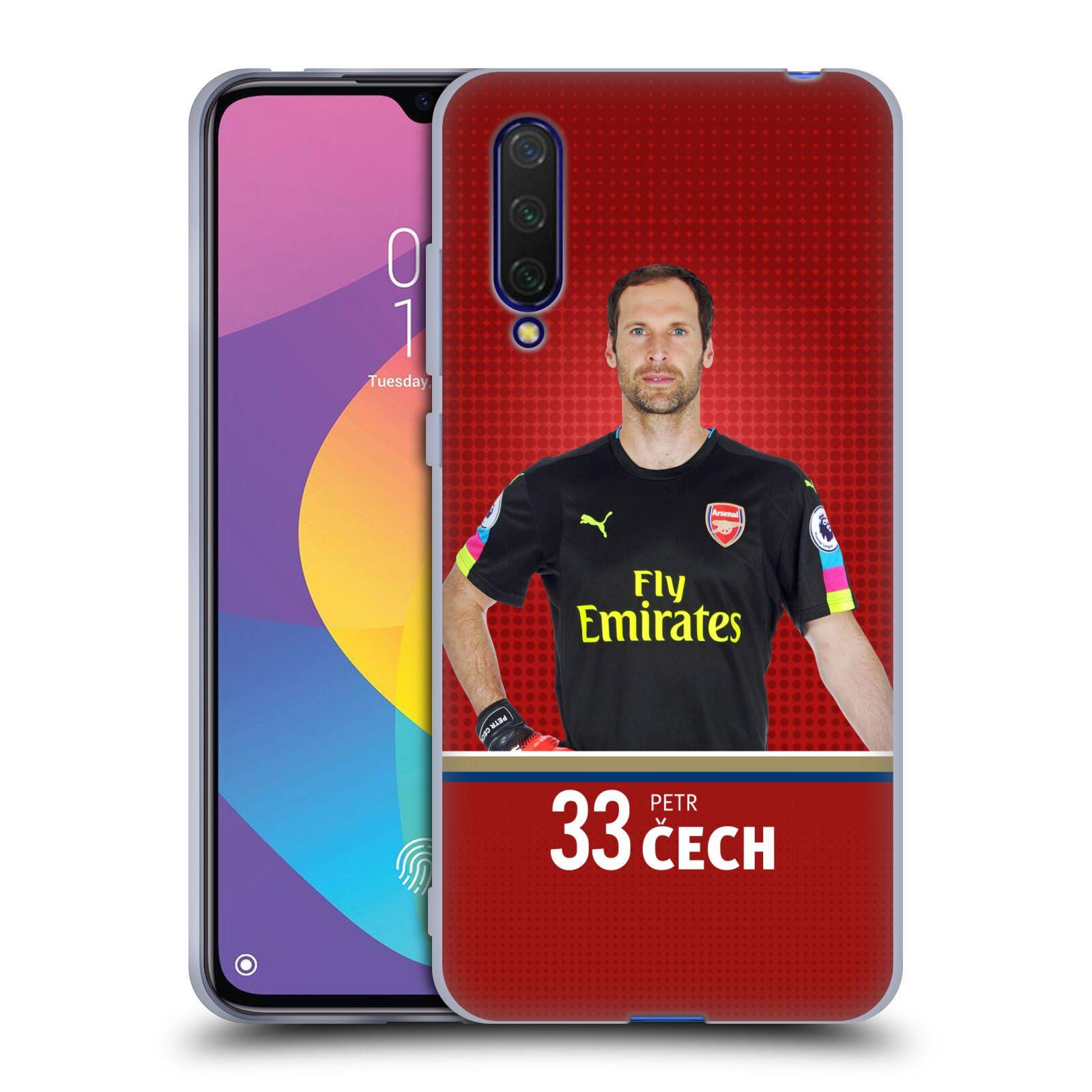 Silikonové pouzdro na mobil Xiaomi Mi 9 Lite - Head Case - Arsenal FC - Petr Čech