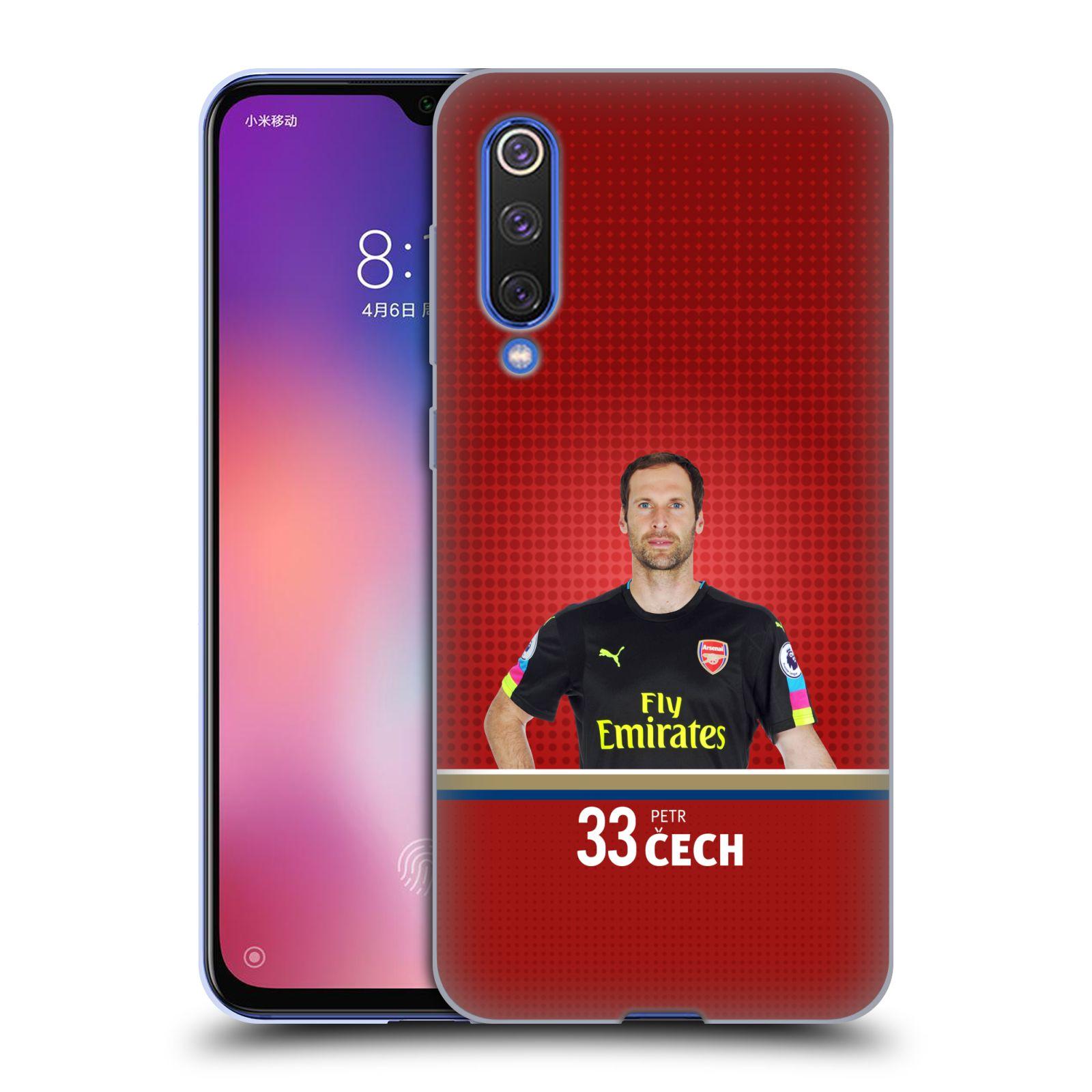 Silikonové pouzdro na mobil Xiaomi Mi 9 SE - Head Case - Arsenal FC - Petr Čech