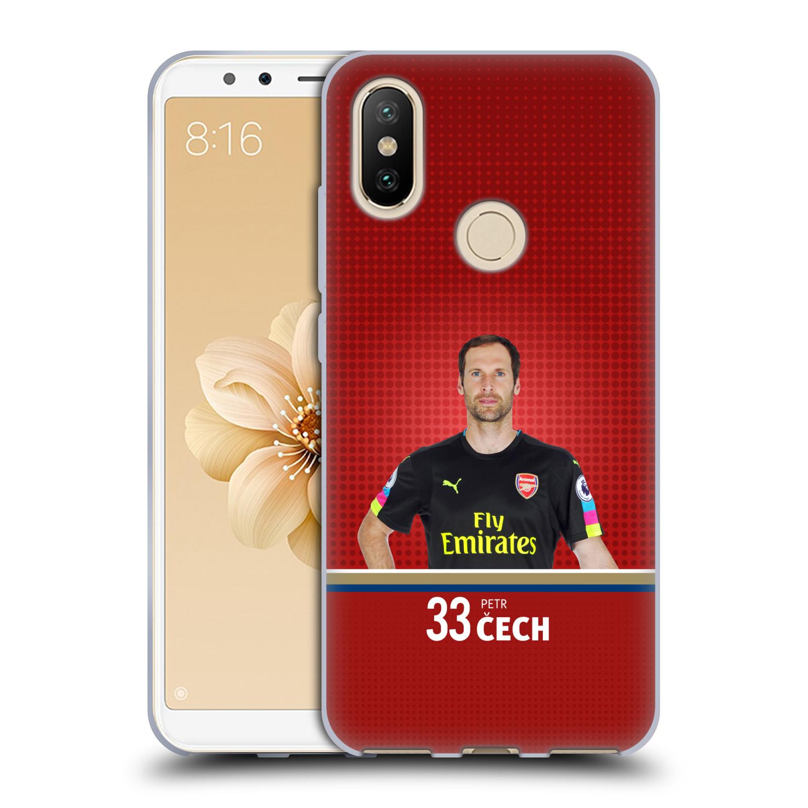 Silikonové pouzdro na mobil Xiaomi Mi A2 - Head Case - Arsenal FC - Petr Čech