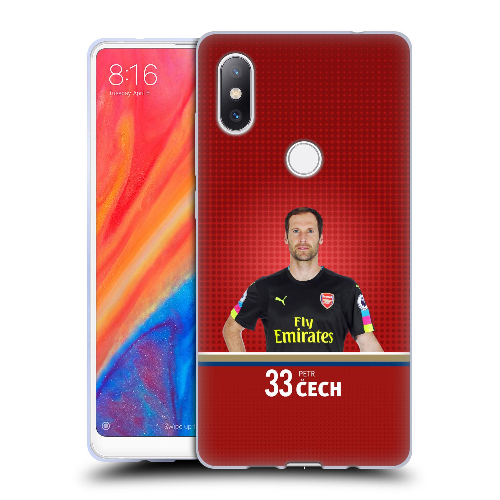 Silikonové pouzdro na mobil Xiaomi Mi Mix 2S - Head Case - Arsenal FC - Petr Čech