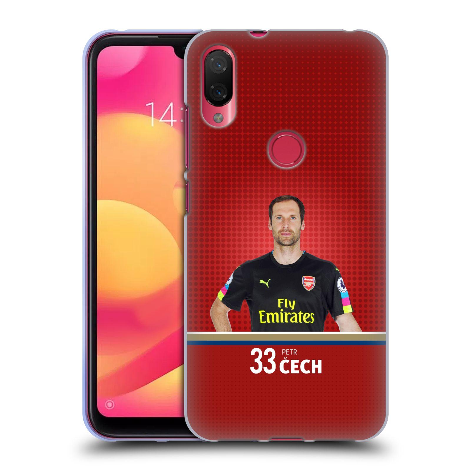 Silikonové pouzdro na mobil Xiaomi Mi Play - Head Case - Arsenal FC - Petr Čech
