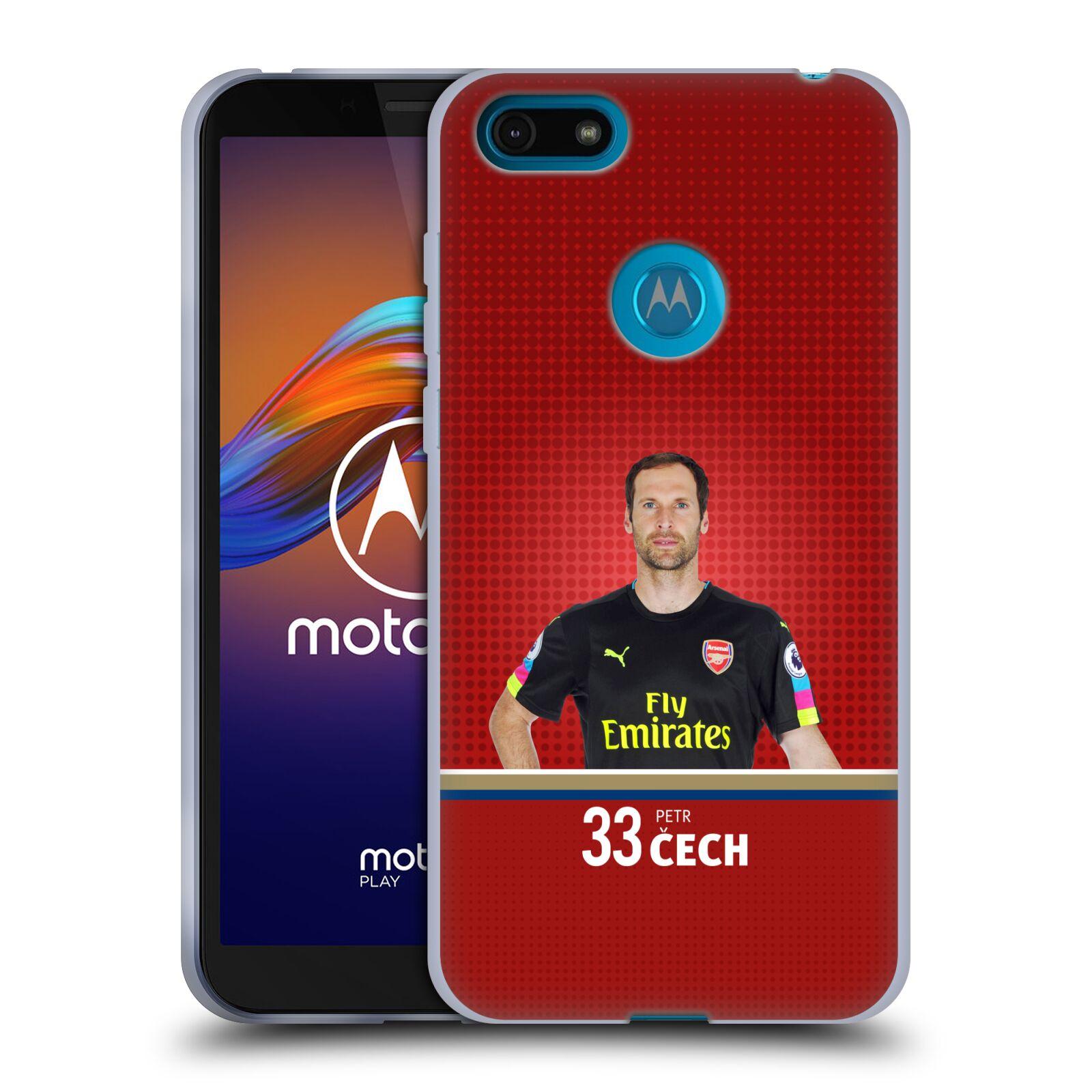 Silikonové pouzdro na mobil Motorola Moto E6 Play - Head Case - Arsenal FC - Petr Čech