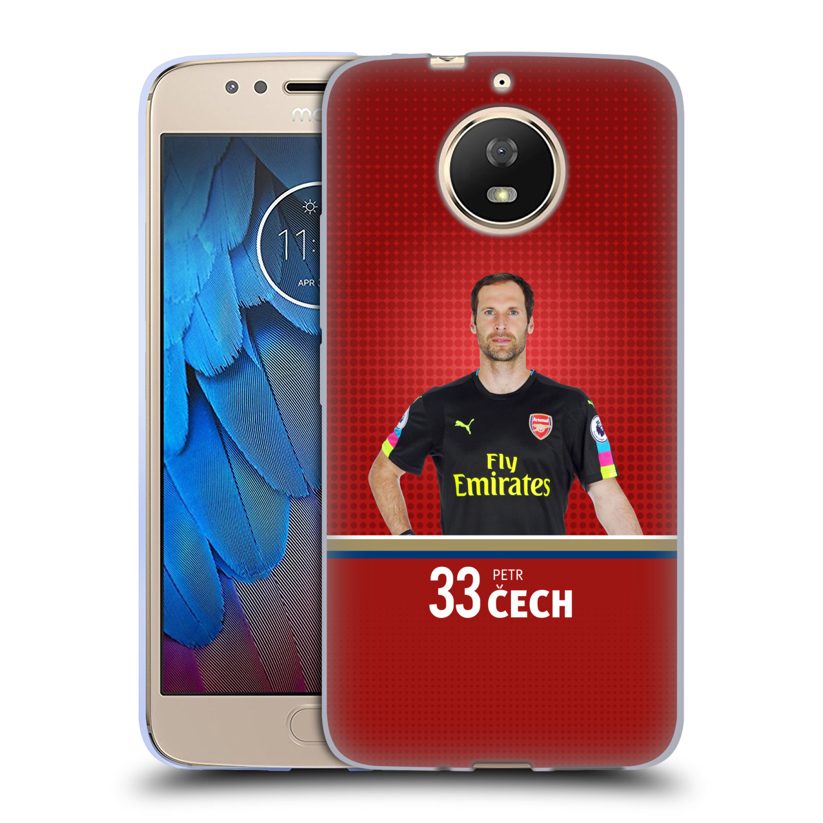Silikonové pouzdro na mobil Lenovo Moto G5s - Head Case - Arsenal FC - Petr Čech