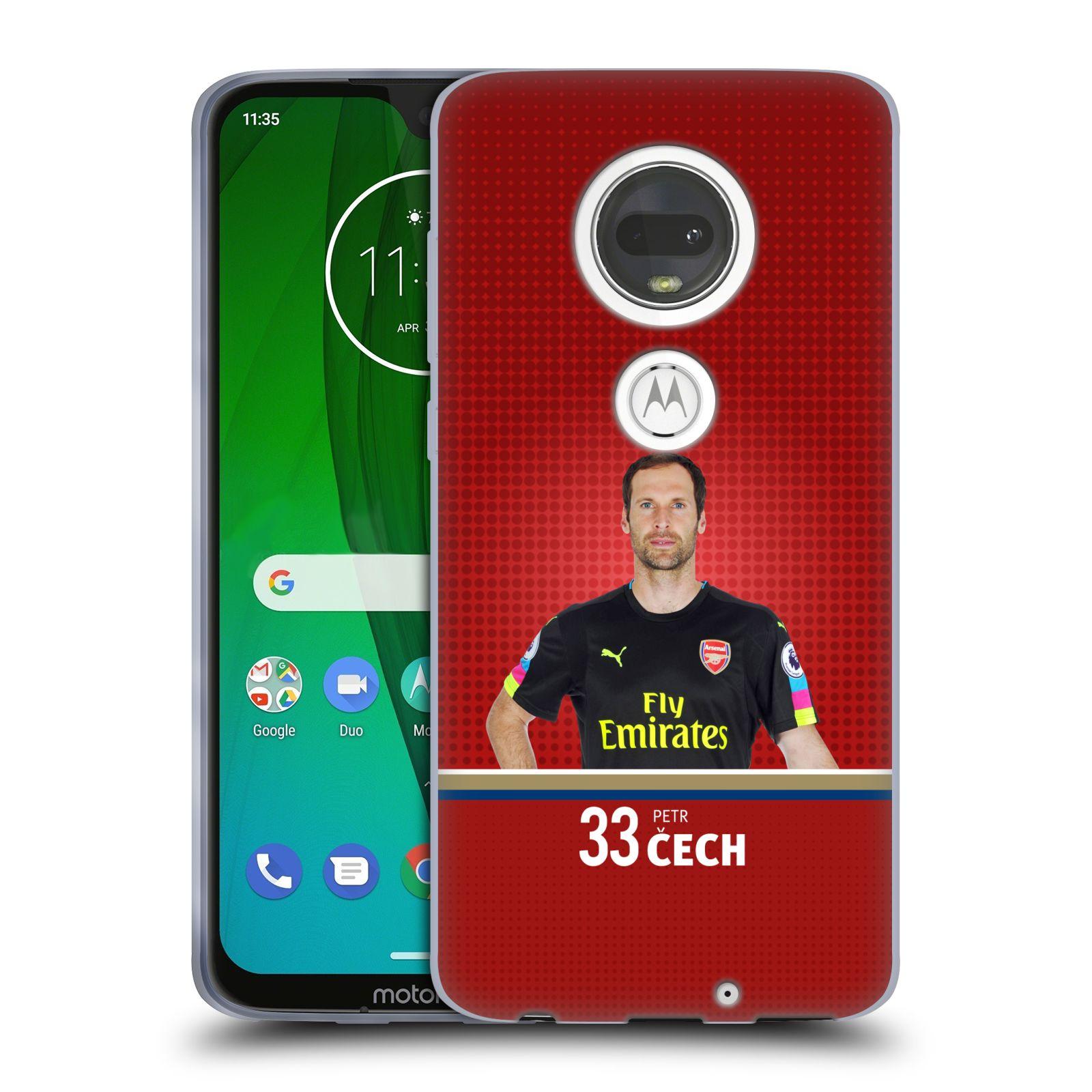 Silikonové pouzdro na mobil Motorola Moto G7 - Head Case - Arsenal FC - Petr Čech
