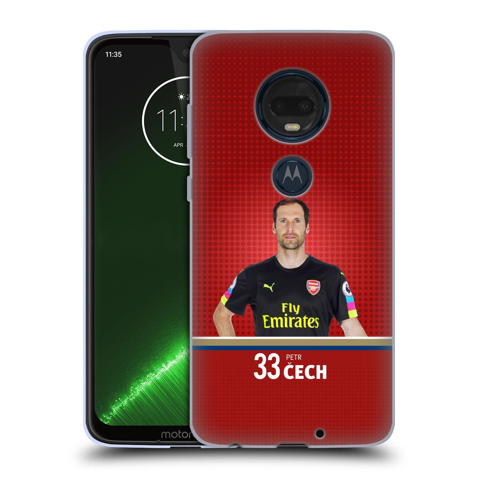 Silikonové pouzdro na mobil Motorola Moto G7 Plus - Head Case - Arsenal FC - Petr Čech