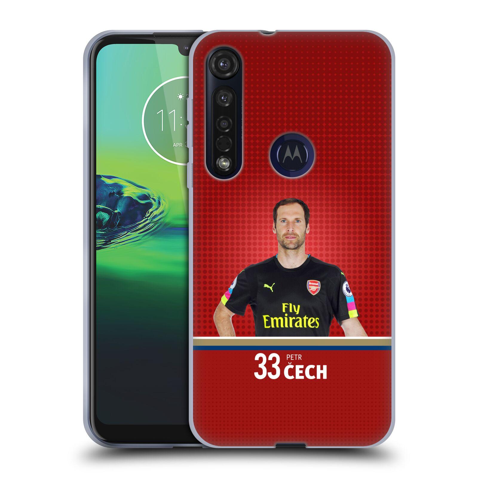 Silikonové pouzdro na mobil Motorola Moto G8 Plus - Head Case - Arsenal FC - Petr Čech
