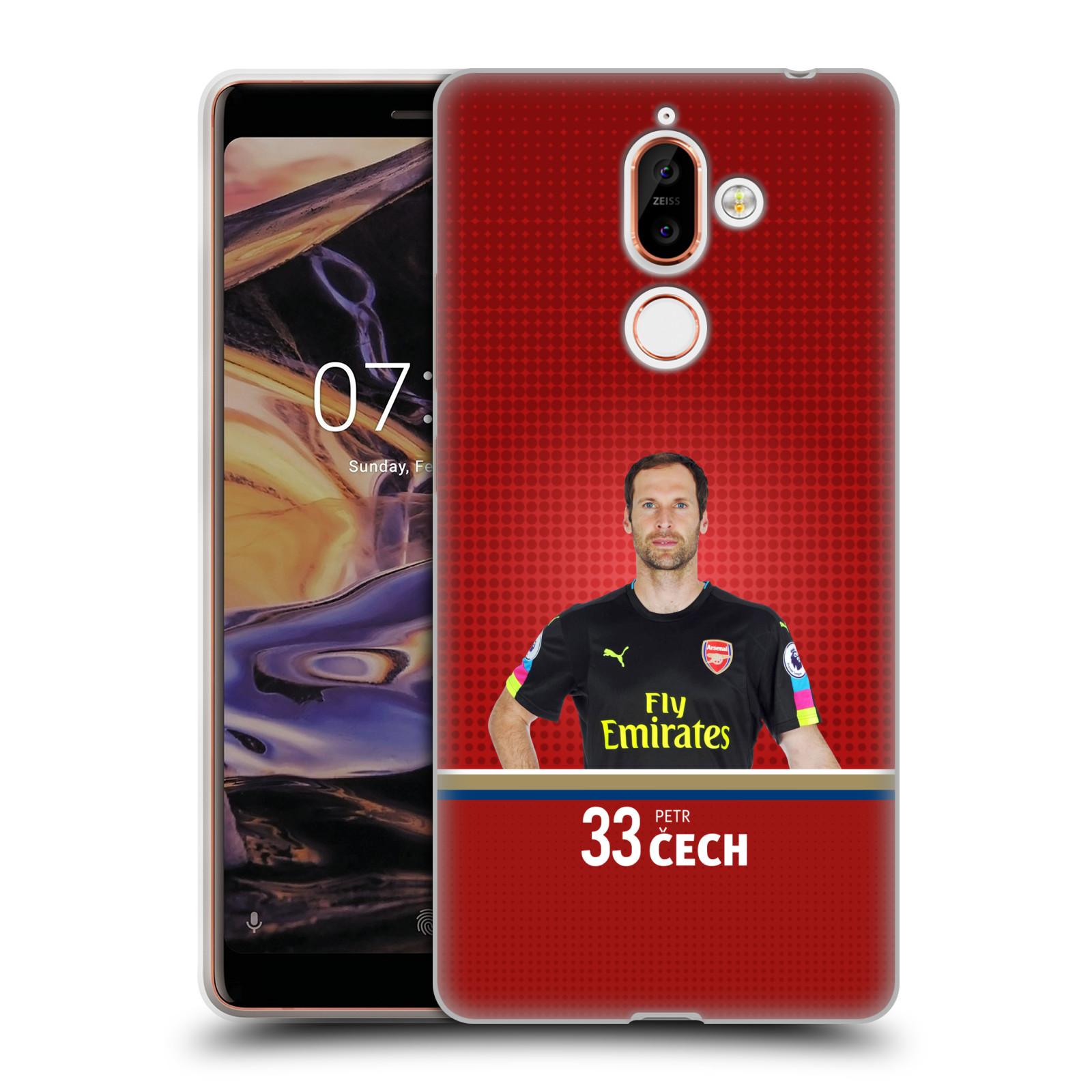 Silikonové pouzdro na mobil Nokia 7 Plus - Head Case - Arsenal FC - Petr Čech