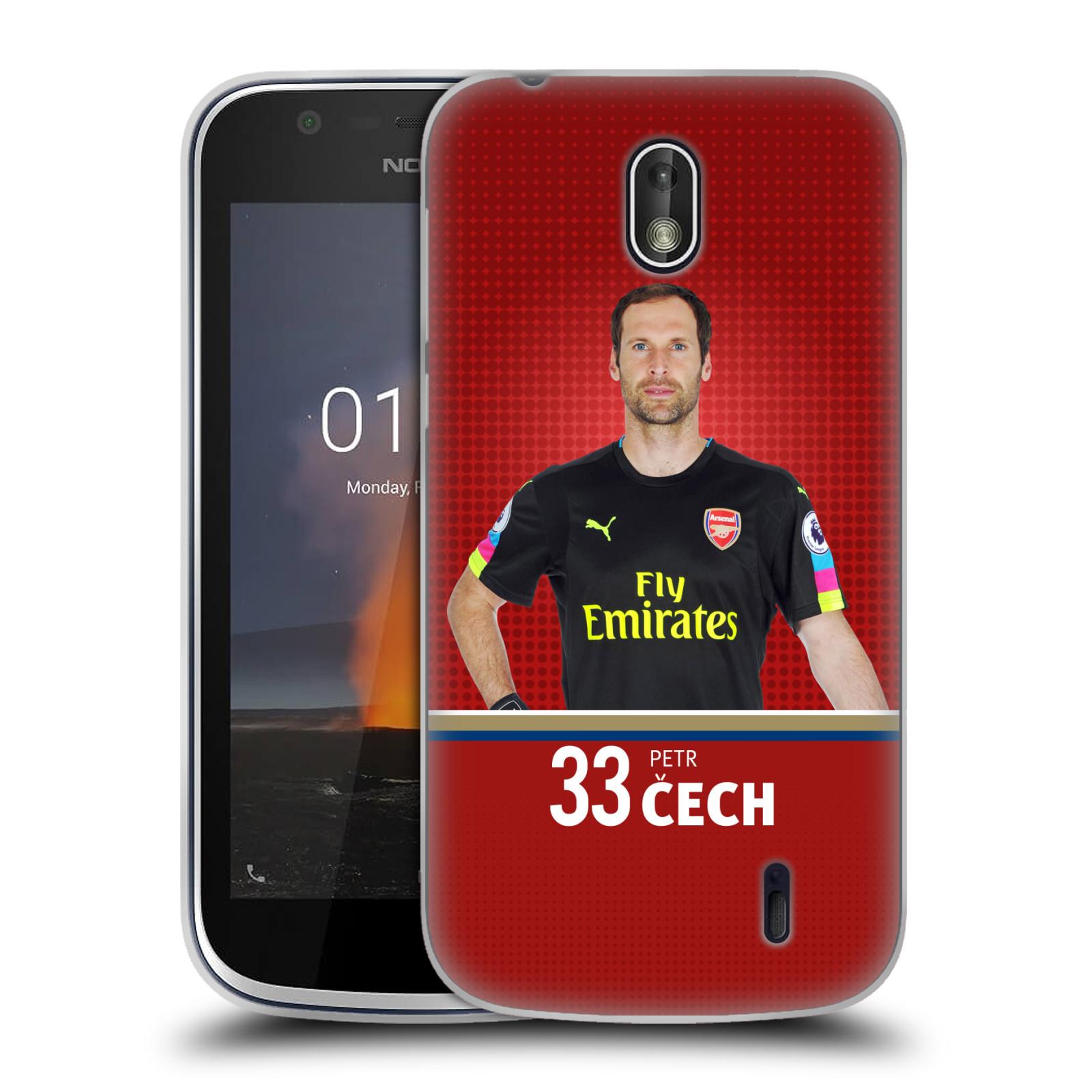 Silikonové pouzdro na mobil Nokia 1 - Head Case - Arsenal FC - Petr Čech