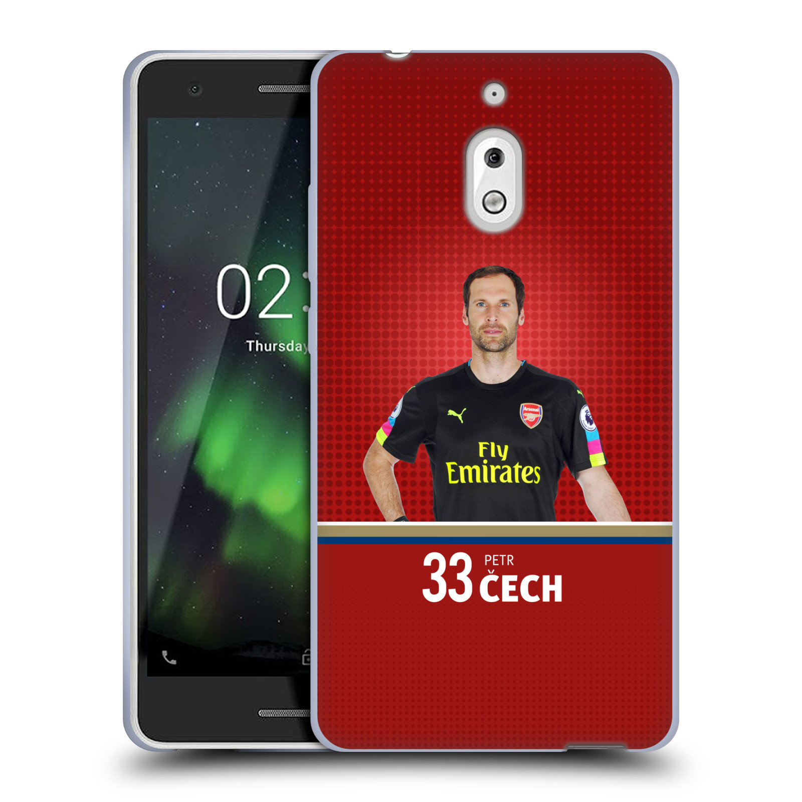 Silikonové pouzdro na mobil Nokia 2.1 - Head Case - Arsenal FC - Petr Čech