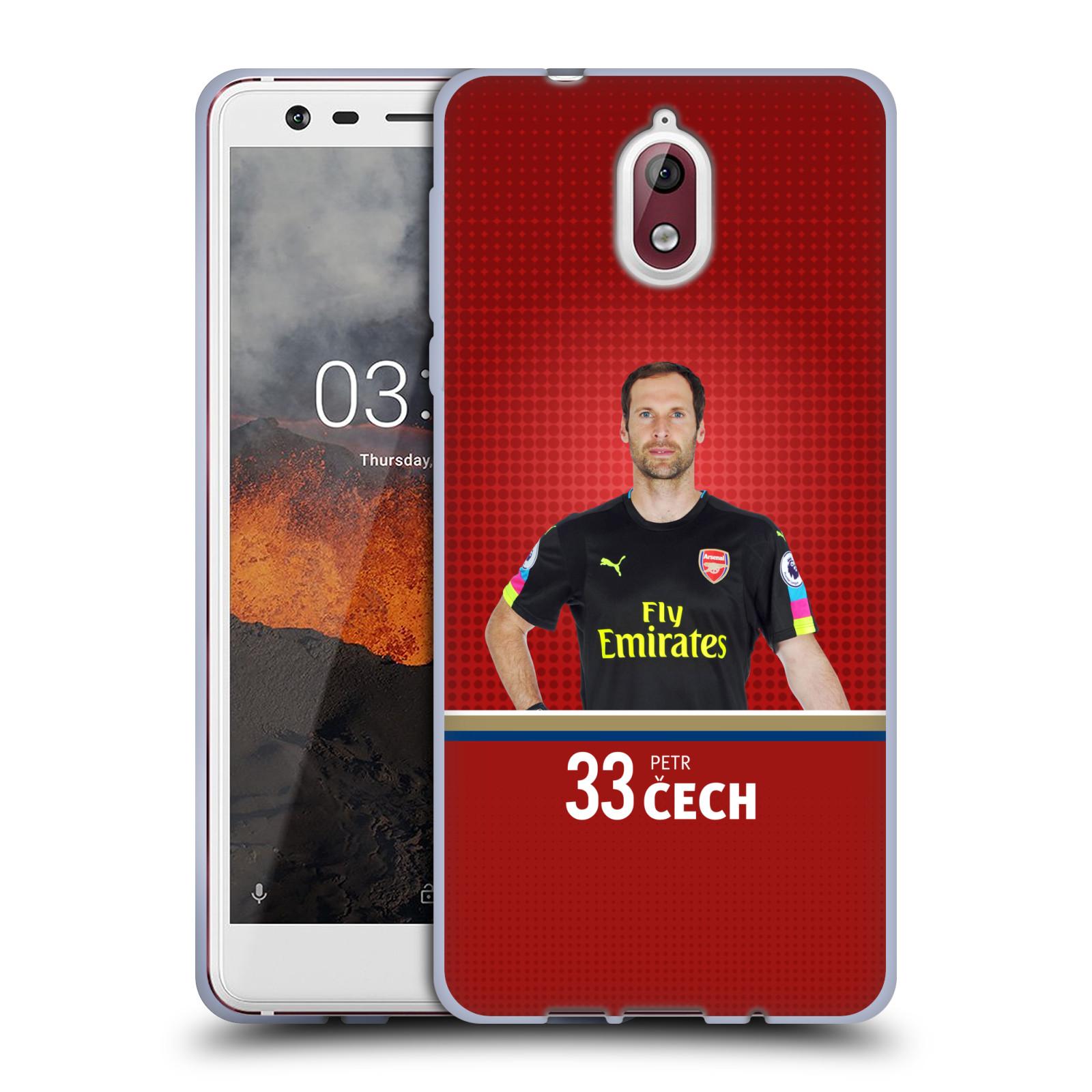 Silikonové pouzdro na mobil Nokia 3.1 - Head Case - Arsenal FC - Petr Čech