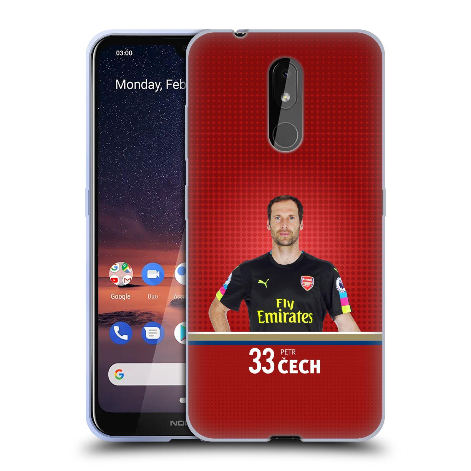 Silikonové pouzdro na mobil Nokia 3.2 - Head Case - Arsenal FC - Petr Čech