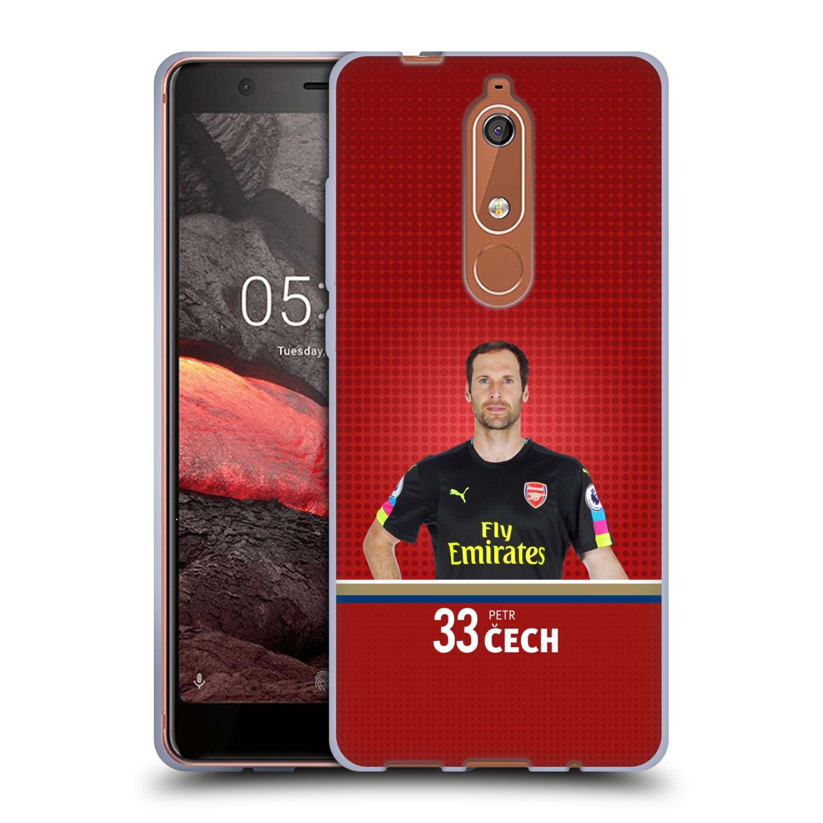 Silikonové pouzdro na mobil Nokia 5.1 - Head Case - Arsenal FC - Petr Čech