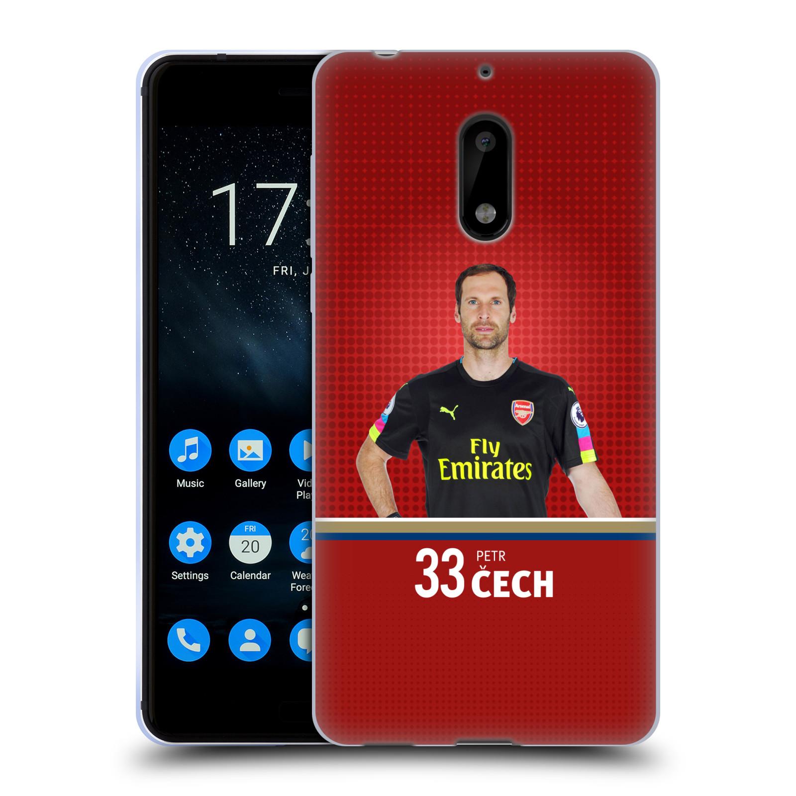 Silikonové pouzdro na mobil Nokia 6 - Head Case - Arsenal FC - Petr Čech