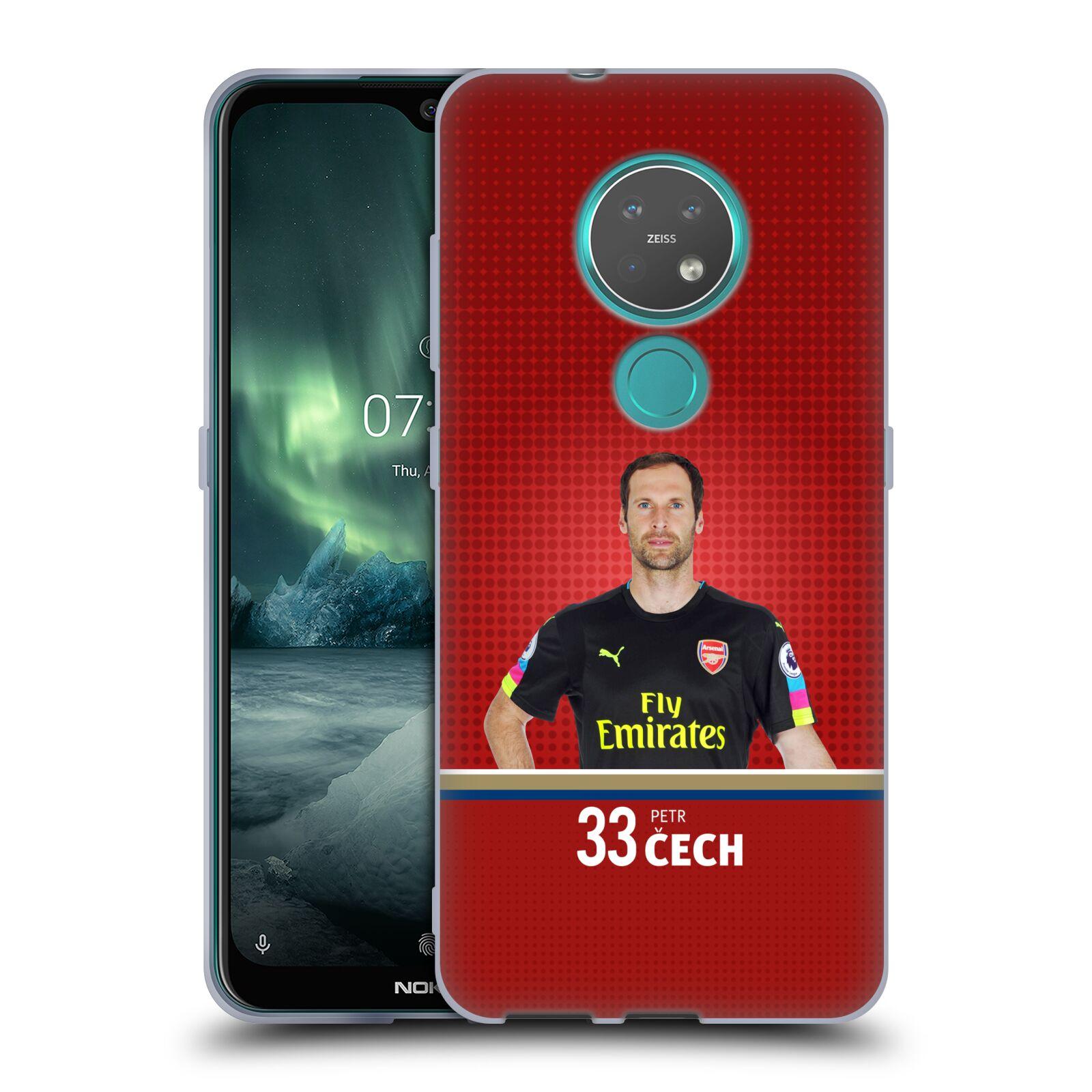 Silikonové pouzdro na mobil Nokia 6.2 - Head Case - Arsenal FC - Petr Čech