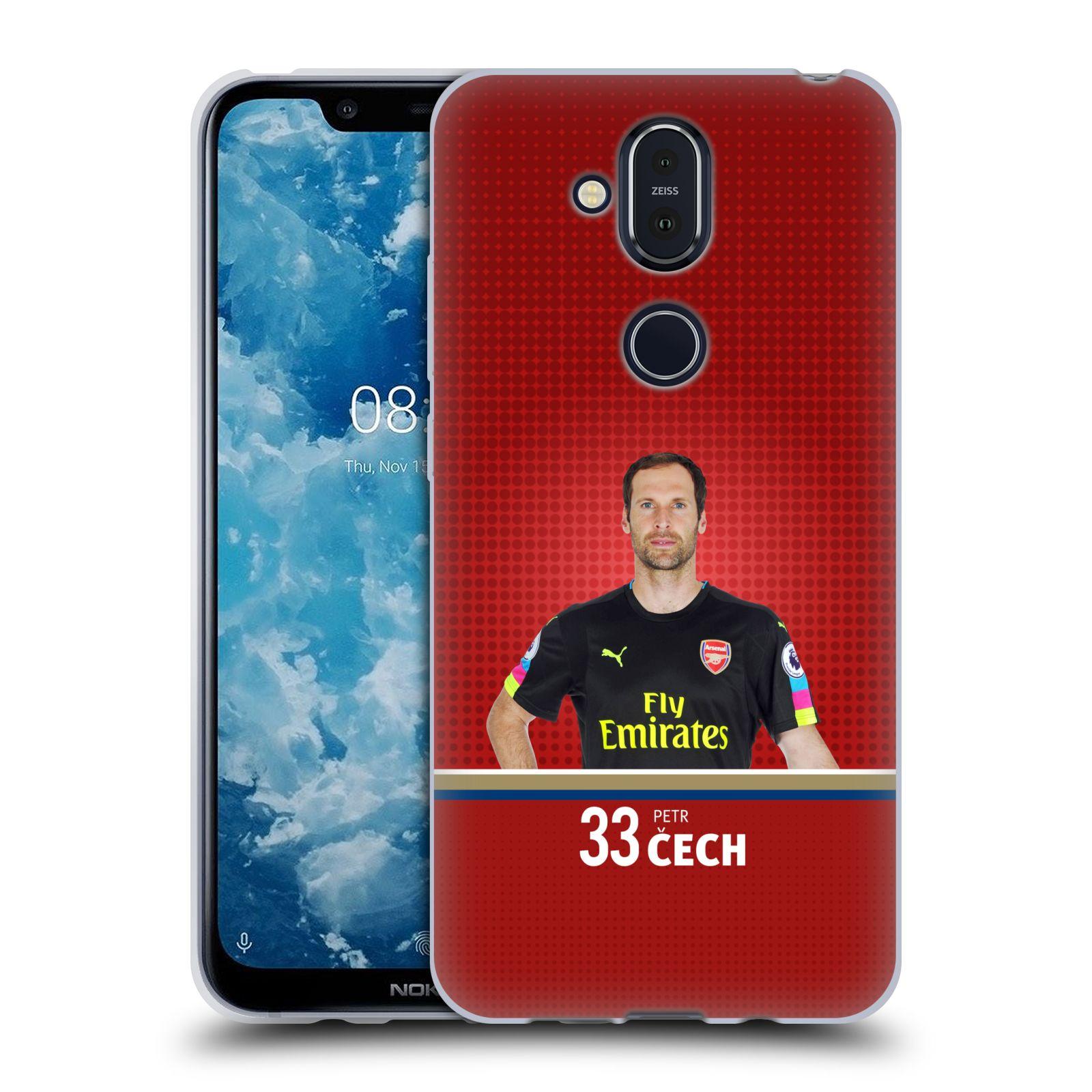 Silikonové pouzdro na mobil Nokia 8.1 - Head Case - Arsenal FC - Petr Čech