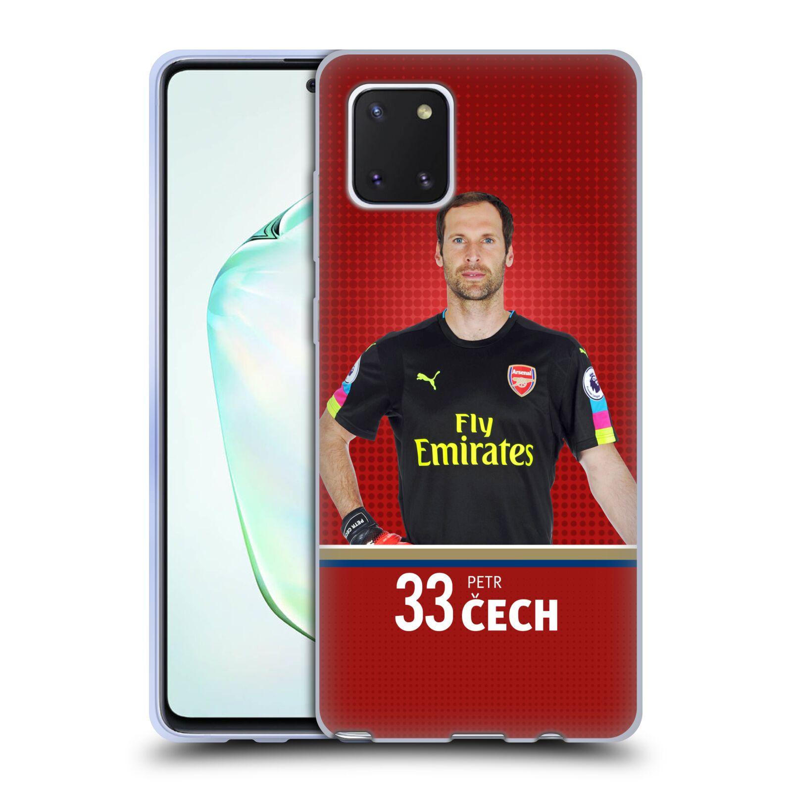 Silikonové pouzdro na mobil Samsung Galaxy Note 10 Lite - Head Case - Arsenal FC - Petr Čech