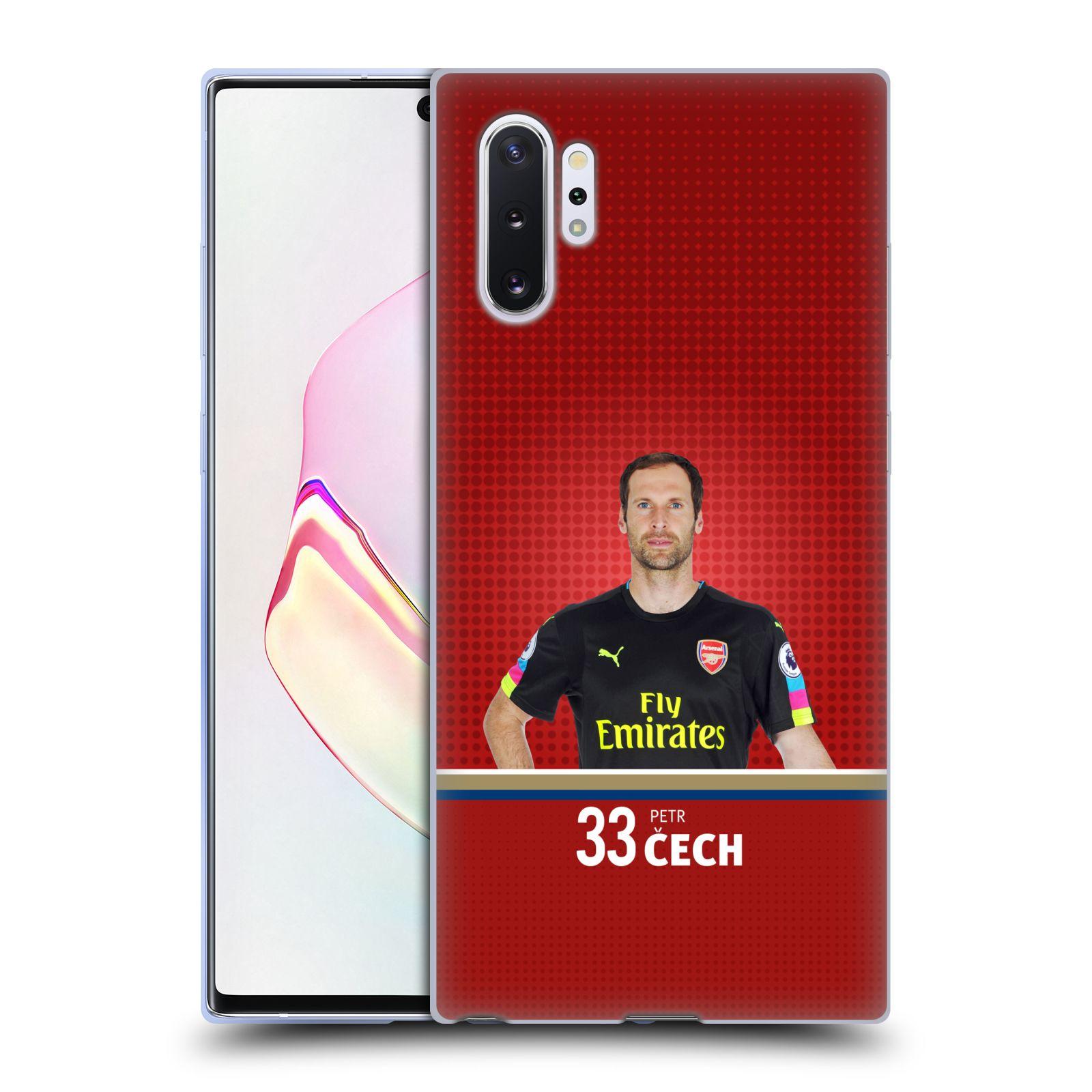 Silikonové pouzdro na mobil Samsung Galaxy Note 10 Plus - Head Case - Arsenal FC - Petr Čech