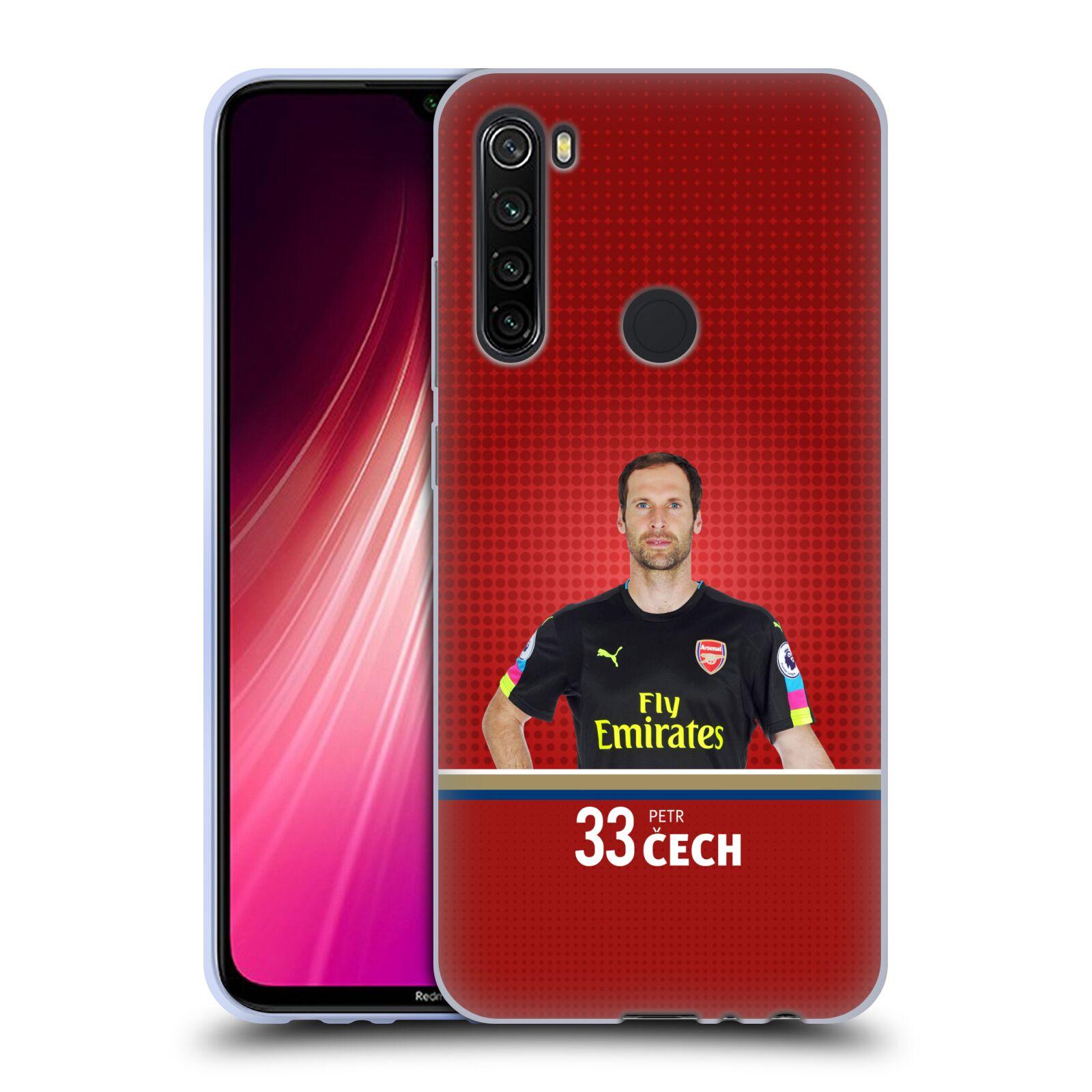 Silikonové pouzdro na mobil Xiaomi Redmi Note 8T - Head Case - Arsenal FC - Petr Čech