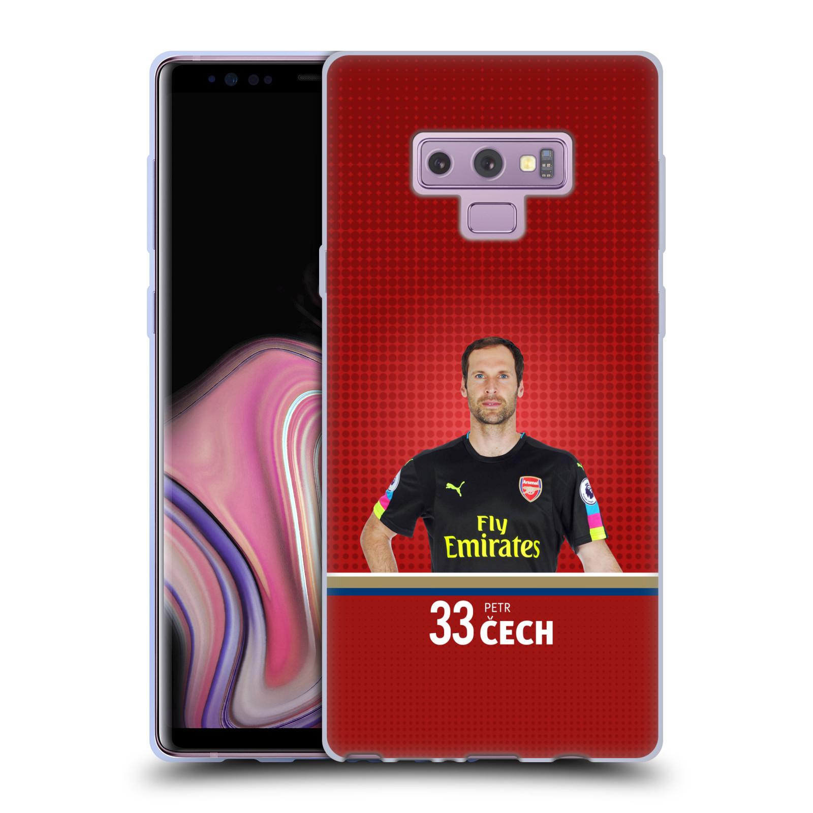 Silikonové pouzdro na mobil Samsung Galaxy Note 9 - Head Case - Arsenal FC - Petr Čech
