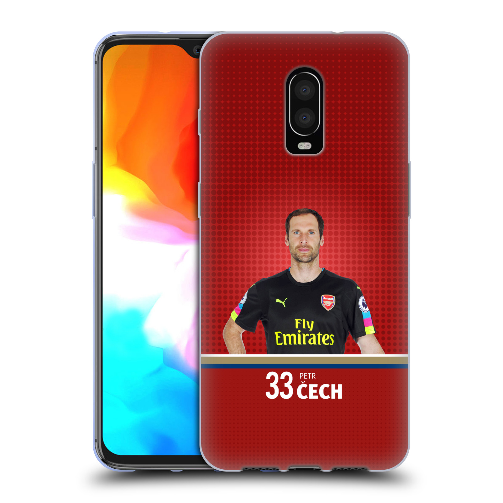 Silikonové pouzdro na mobil OnePlus 6T - Head Case - Arsenal FC - Petr Čech