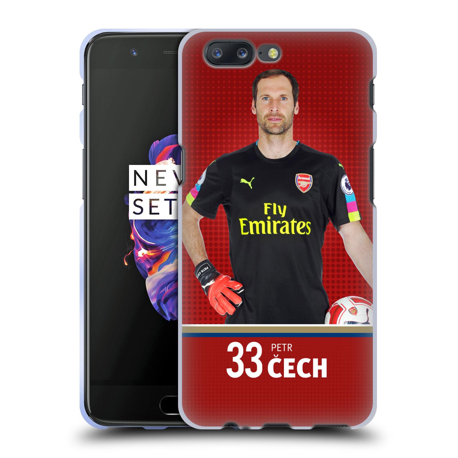 Silikonové pouzdro na mobil OnePlus 5 - Head Case - Arsenal FC - Petr Čech