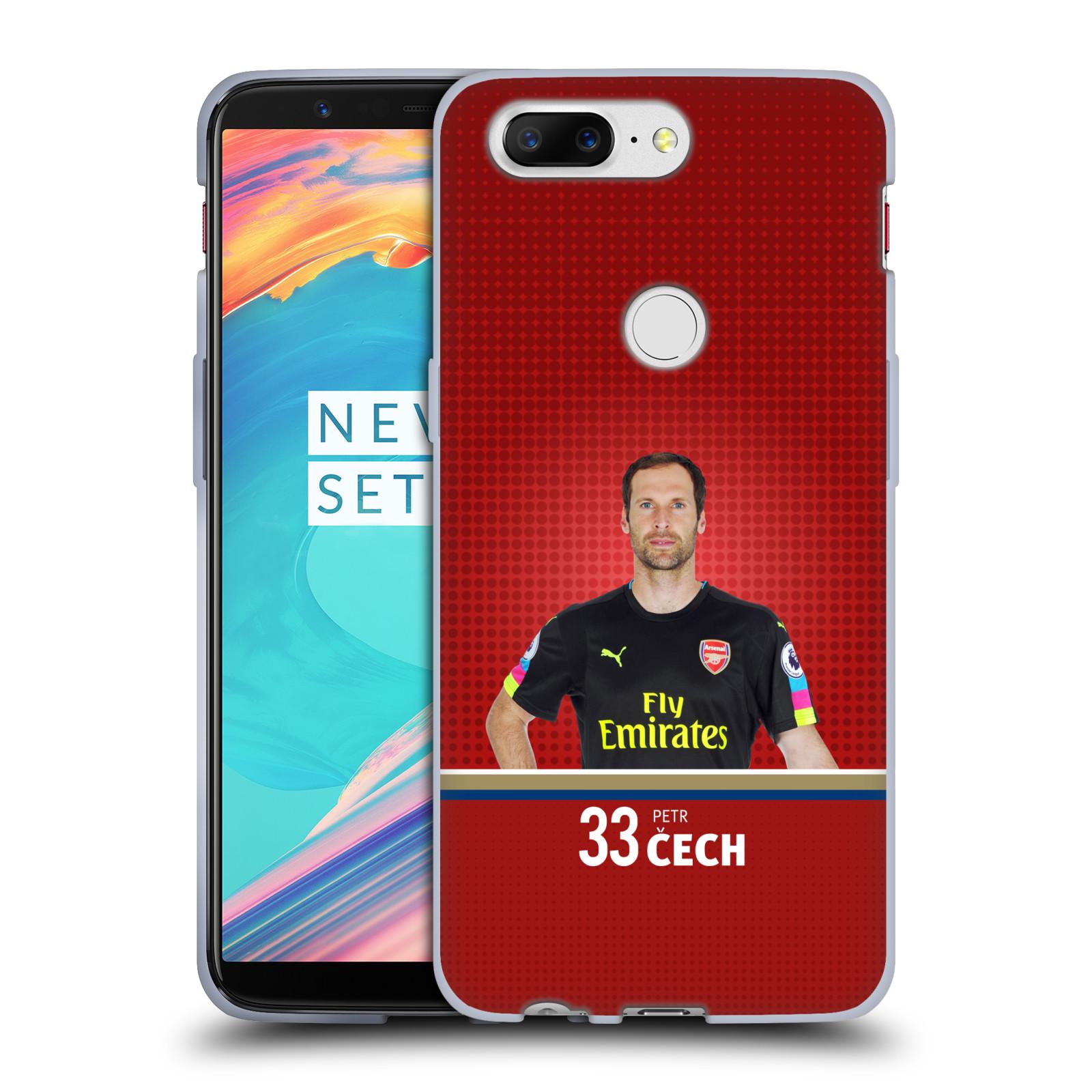 Silikonové pouzdro na mobil OnePlus 5T - Head Case - Arsenal FC - Petr Čech