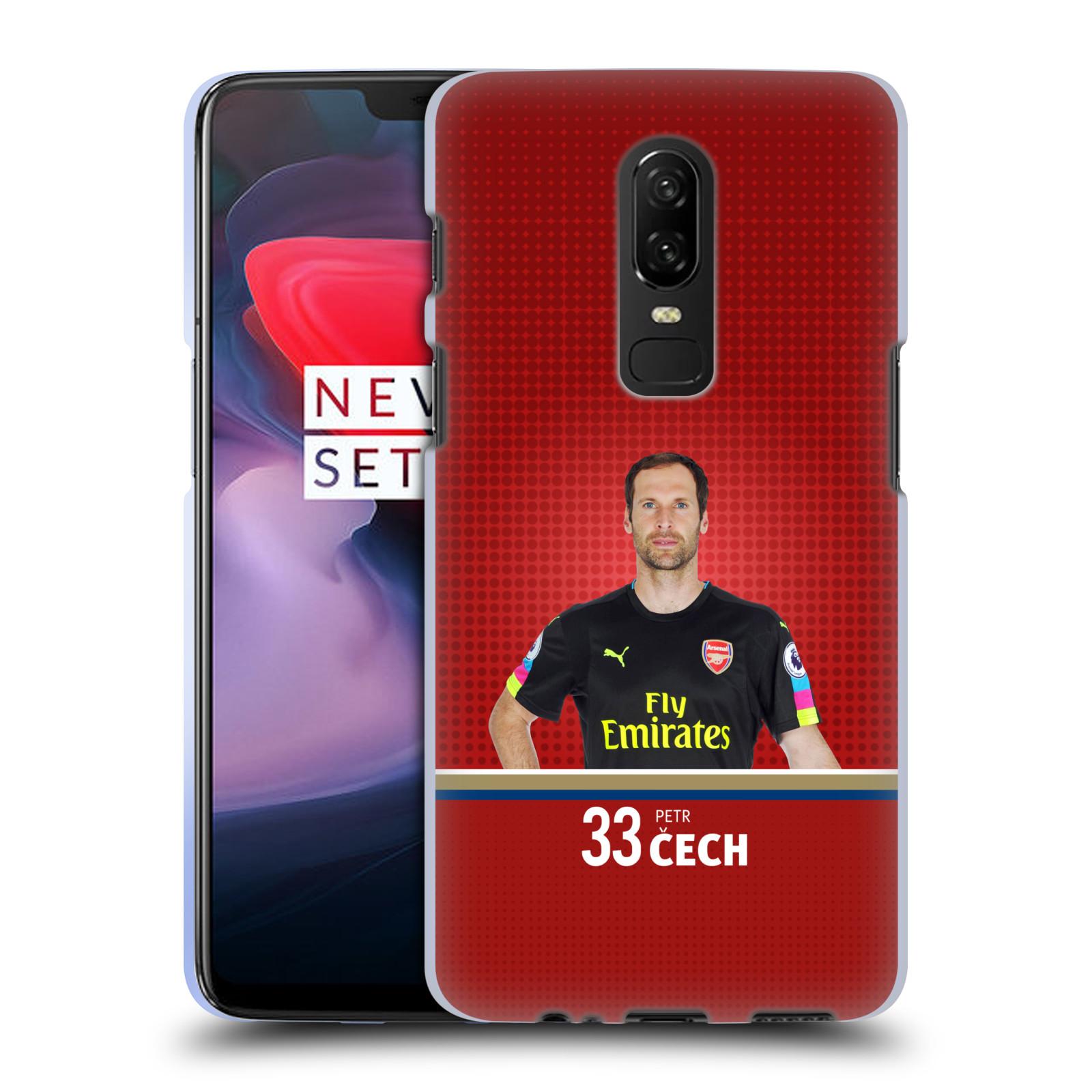 Silikonové pouzdro na mobil OnePlus 6 - Head Case - Arsenal FC - Petr Čech