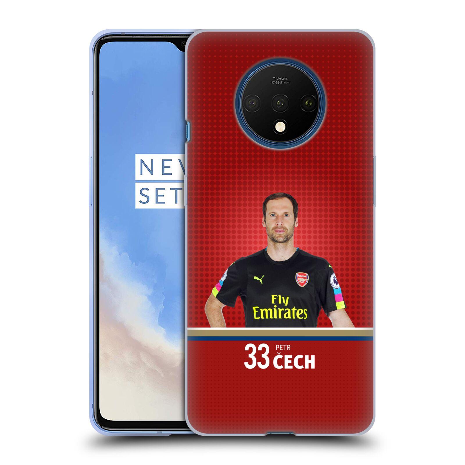 Silikonové pouzdro na mobil OnePlus 7T - Head Case - Arsenal FC - Petr Čech