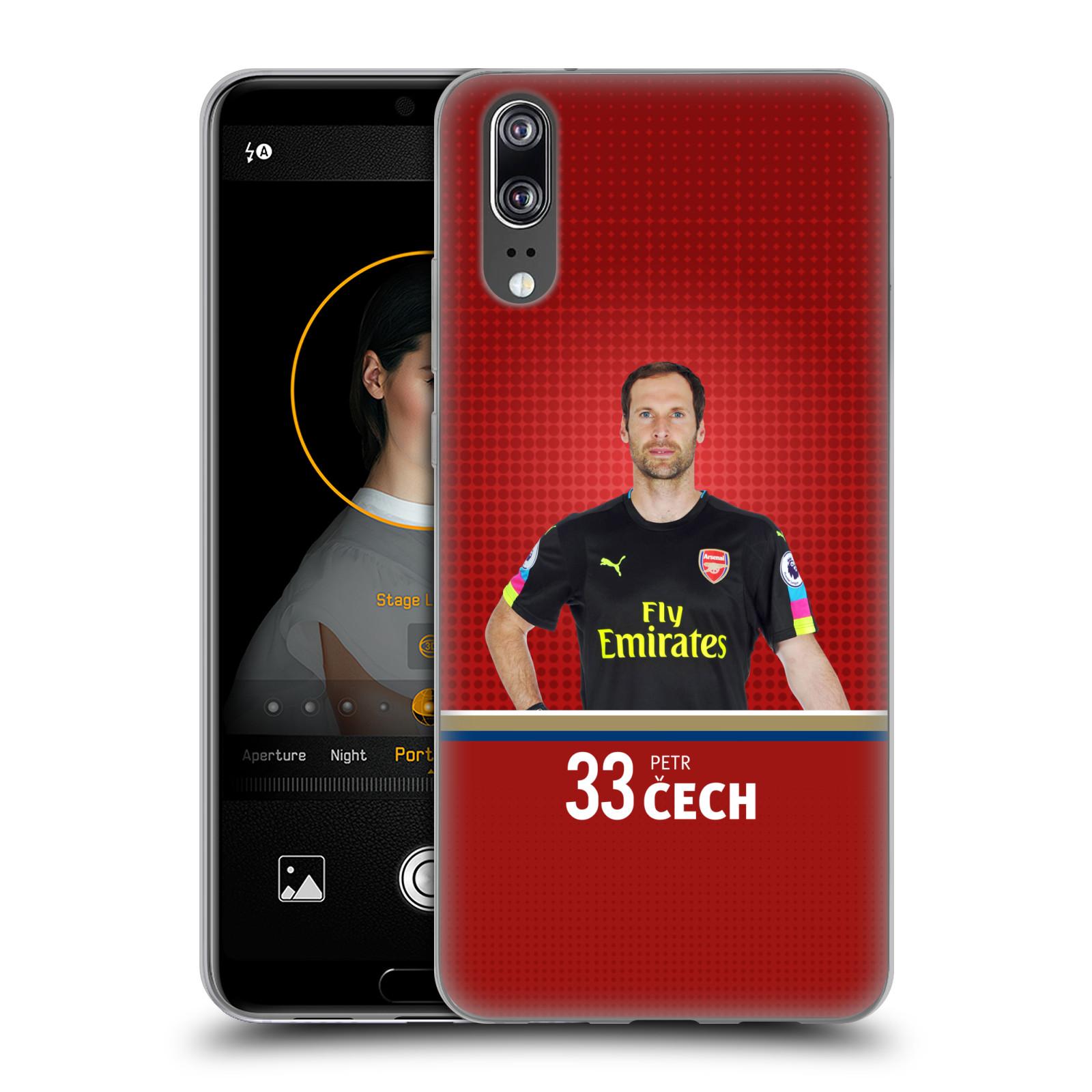 Silikonové pouzdro na mobil Huawei P20 - Head Case - Arsenal FC - Petr Čech