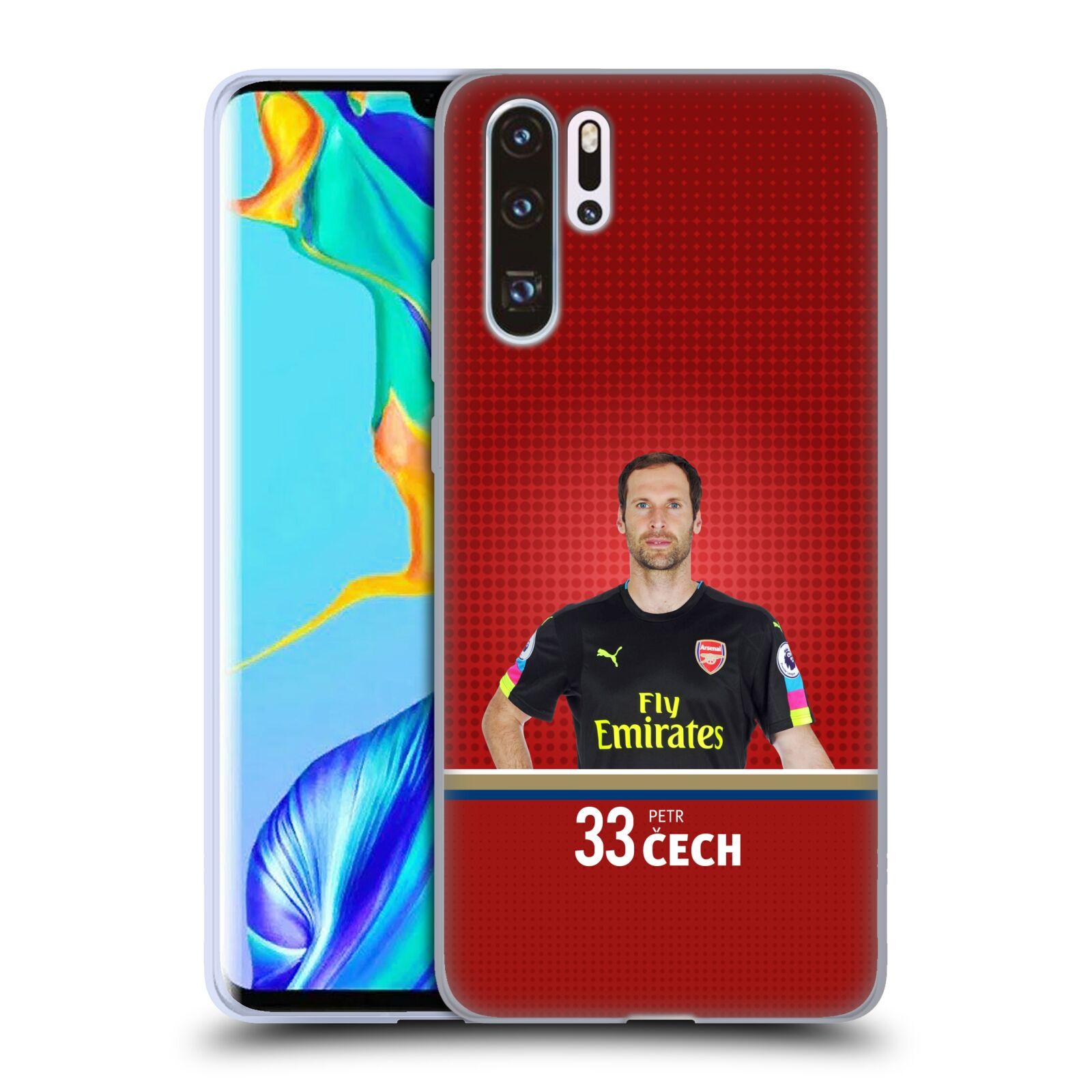 Silikonové pouzdro na mobil Huawei P30 Pro - Head Case - Arsenal FC - Petr Čech