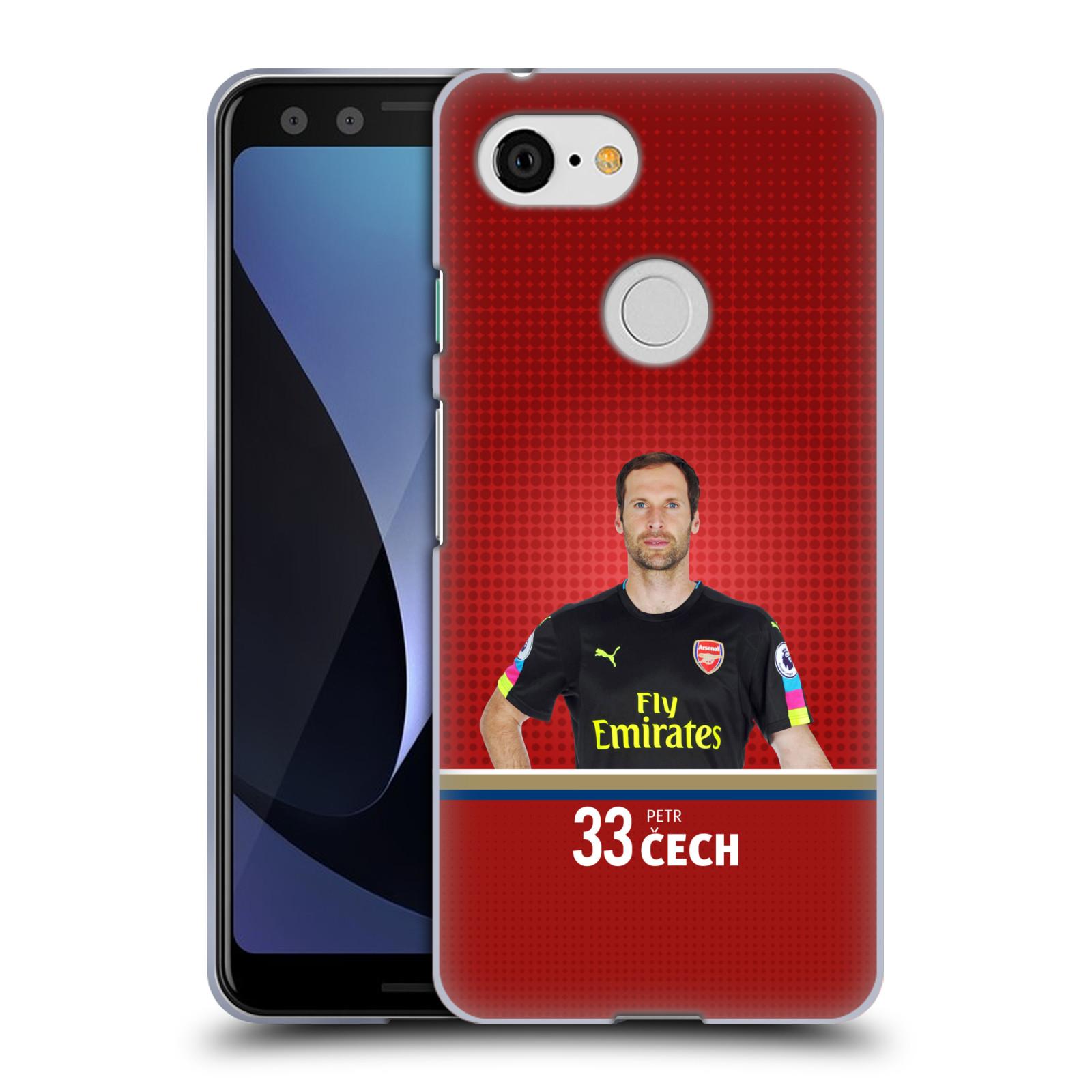 Silikonové pouzdro na mobil Google Pixel 3 - Head Case - Arsenal FC - Petr Čech