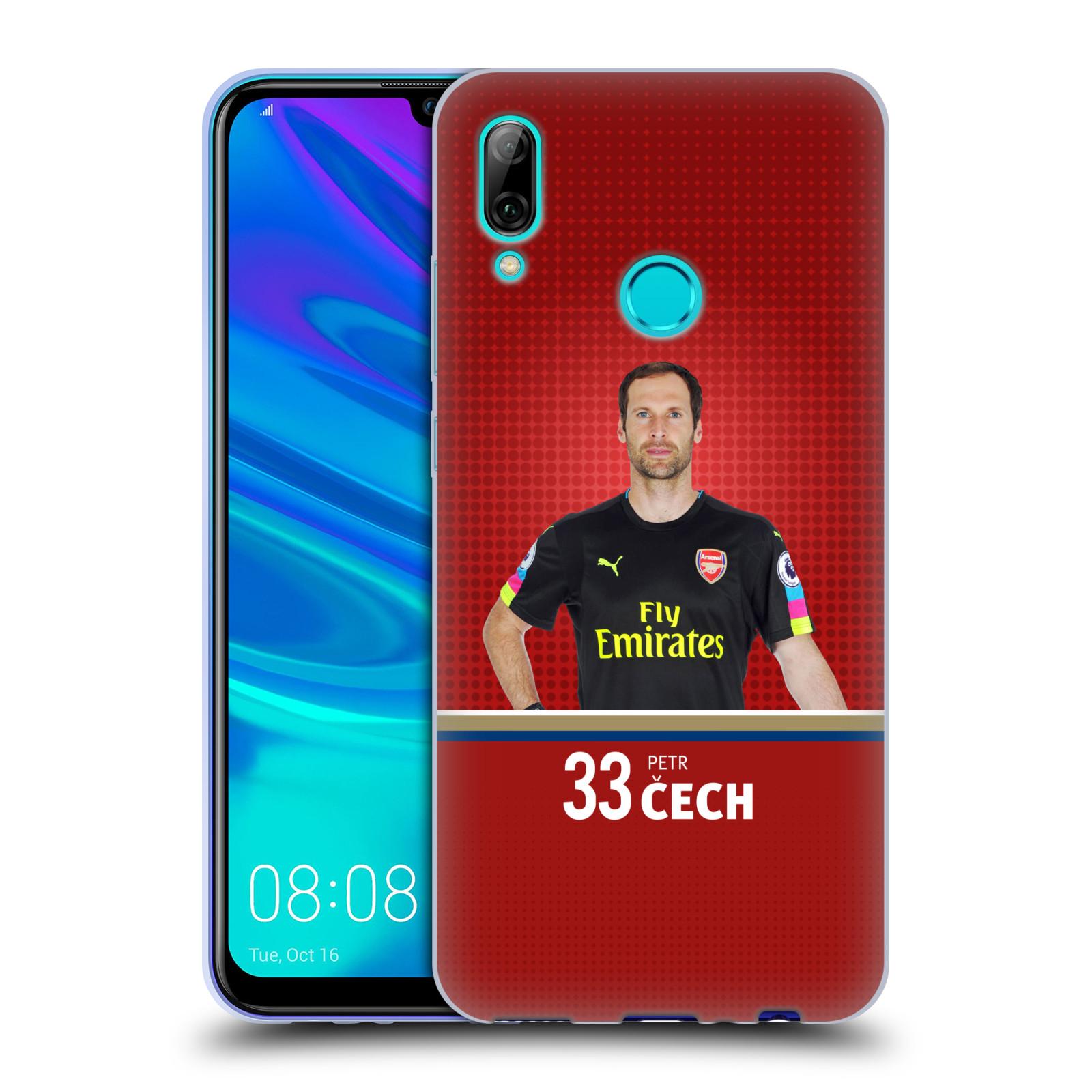 Silikonové pouzdro na mobil Huawei P Smart (2019) - Head Case - Arsenal FC - Petr Čech